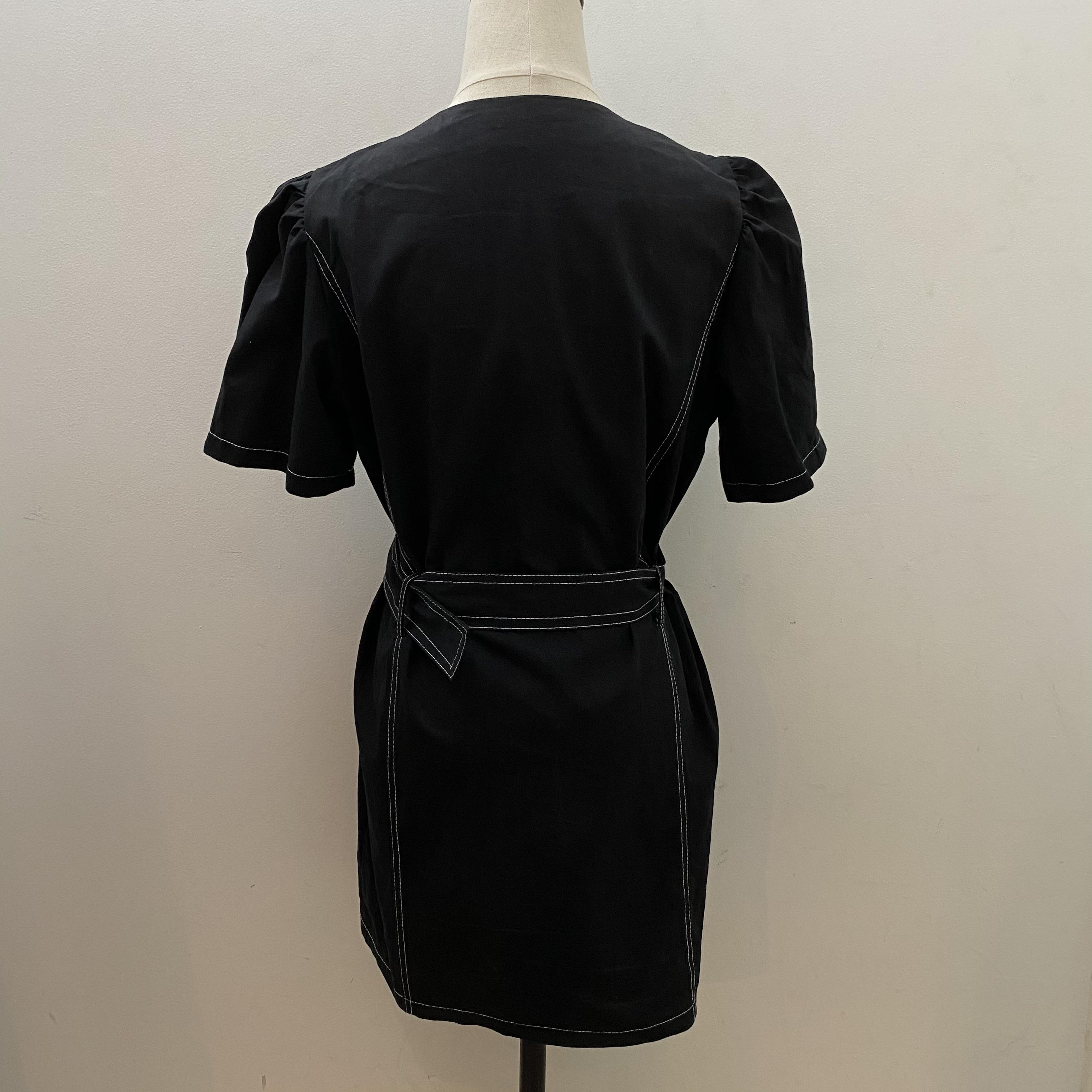 【Belle】stitch onepiece /black