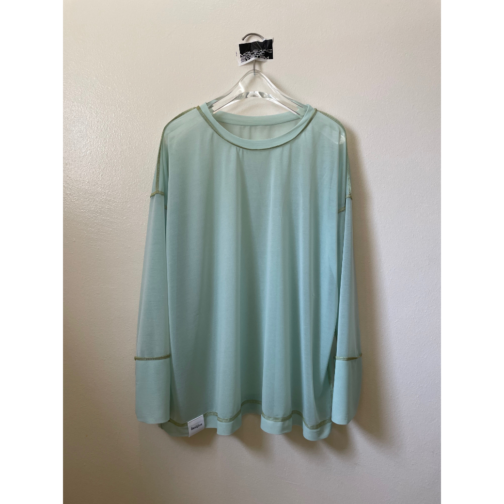 【sandglass】 reversy espandy long sleeve(mint) / 【サンドグラス】リバーシー エスパンディー ロング スリーブ(ミント)