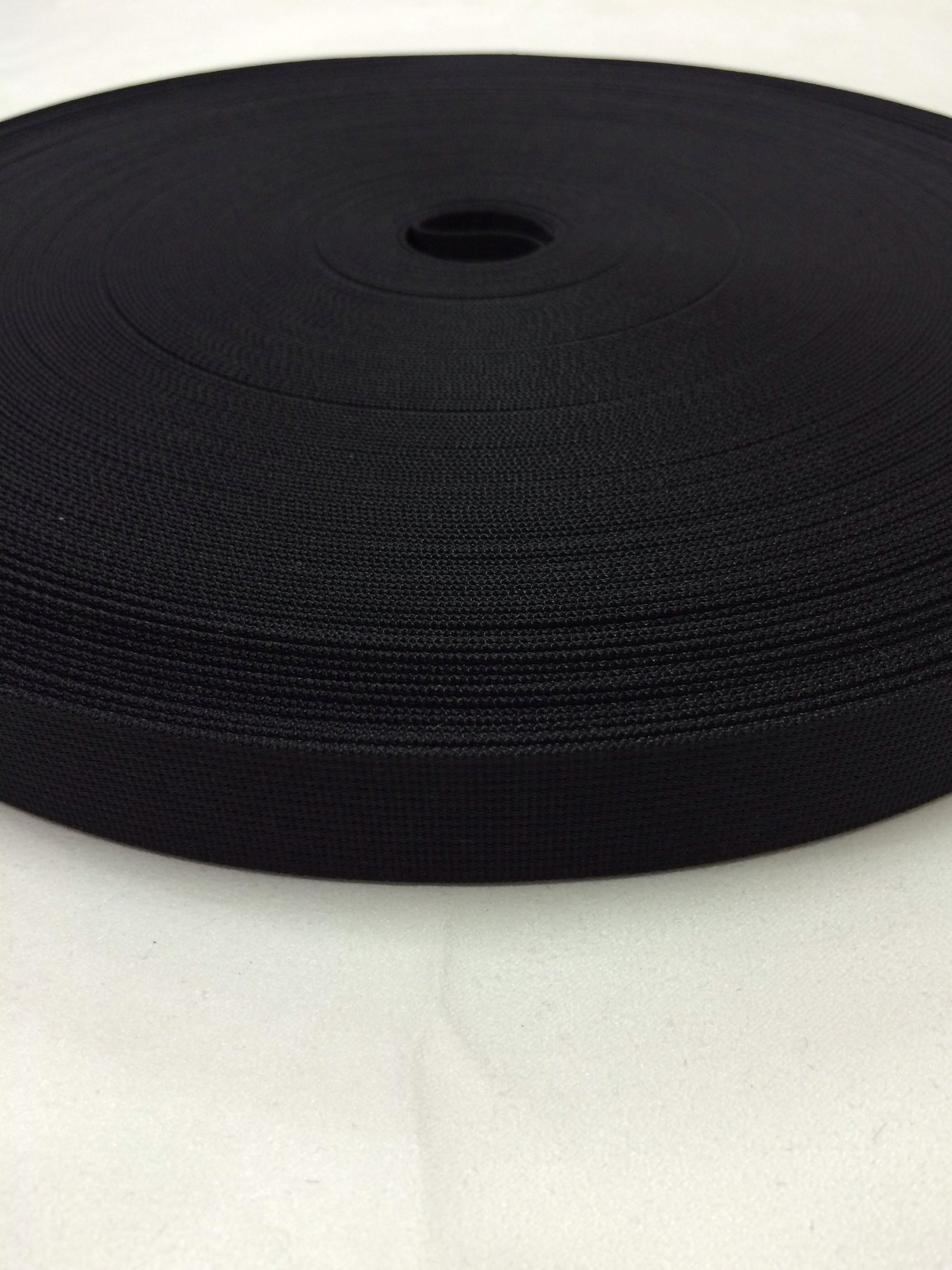 ナイロン ベルト 高密度 20mm幅 1mm厚 黒 5m