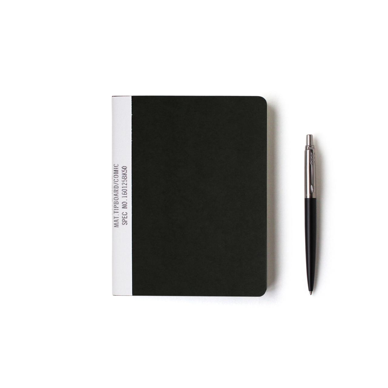【ネコポス対応】MUCU Blank Note ブラック Sサイズ