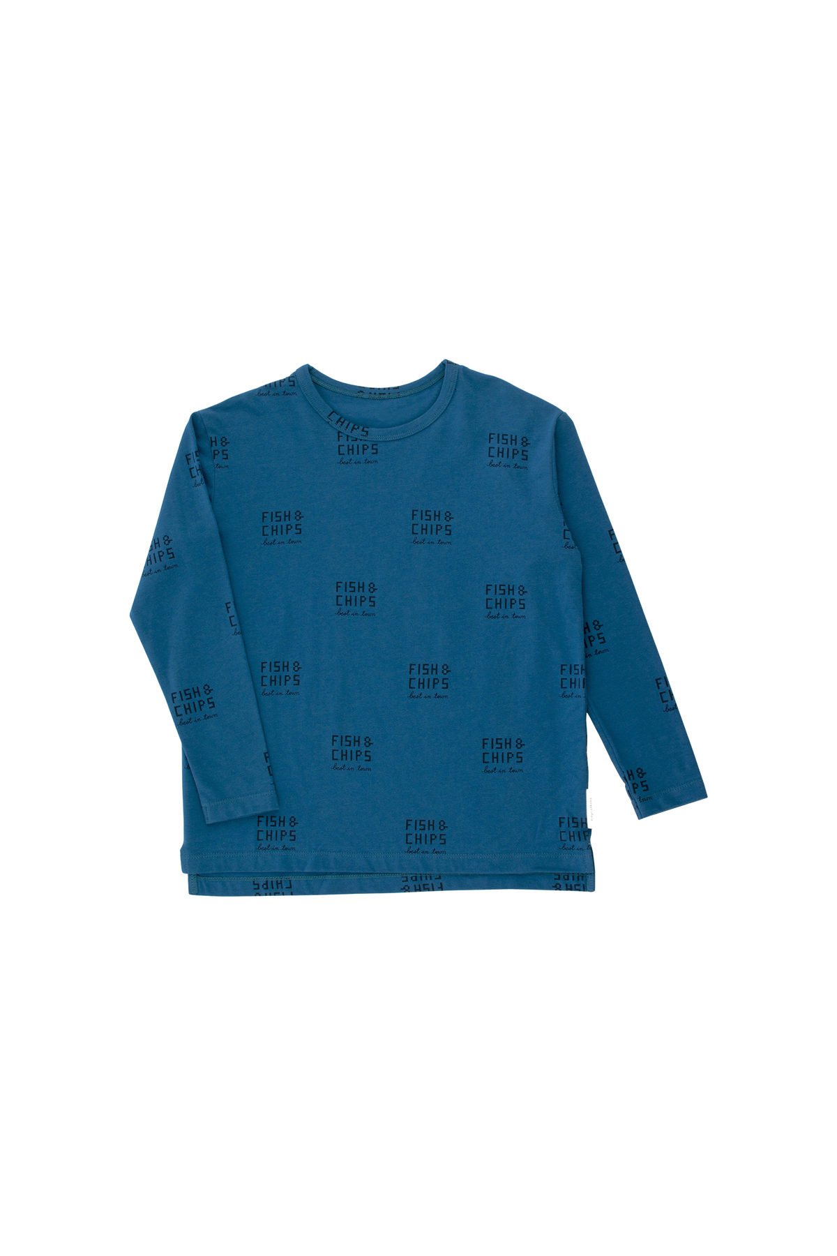 《tinycottons 2018AW》fish and chips ls relaxed tee / light navy × navy