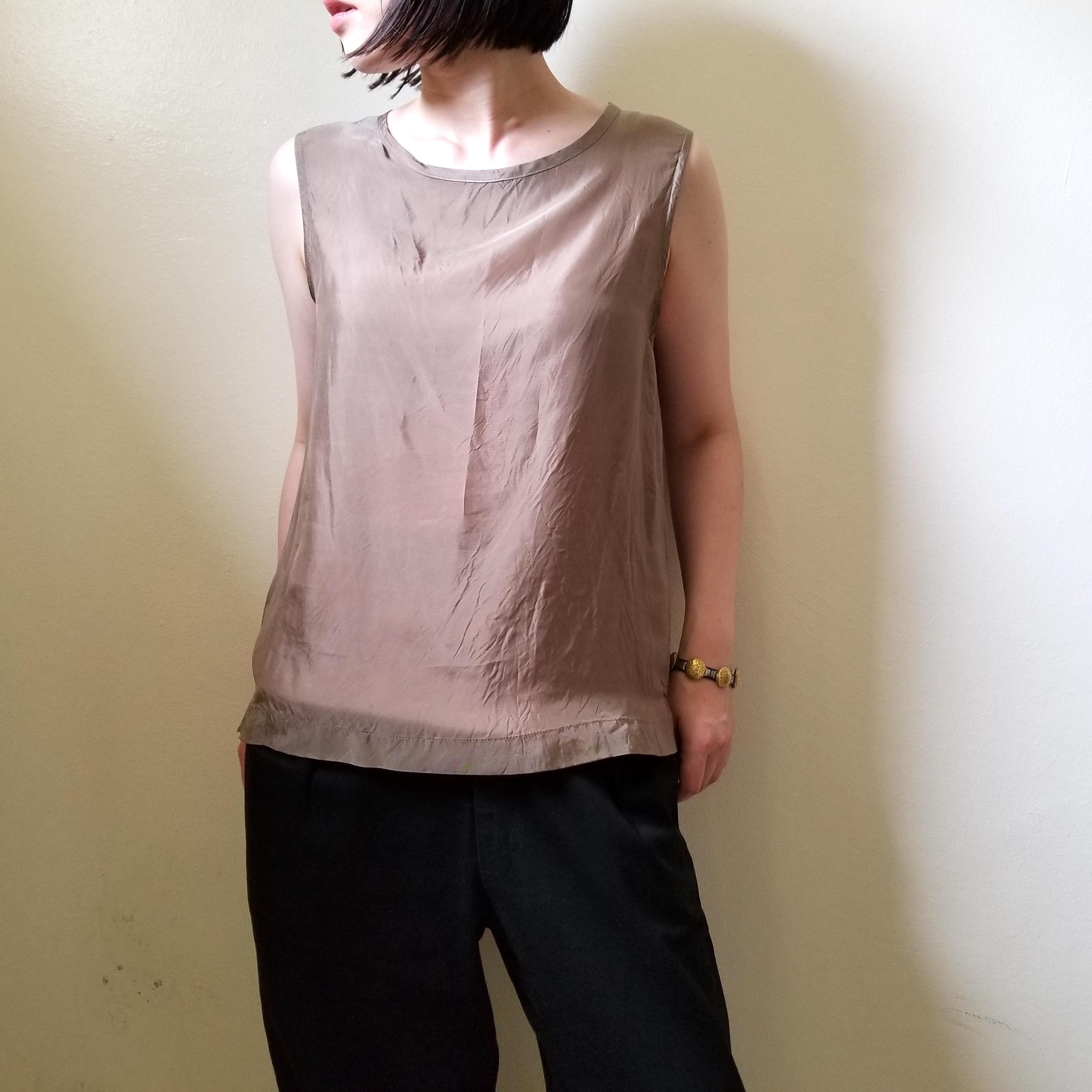 【hippiness】cupro tanktop (beige) /【ヒッピネス】キュプラ タンクトップ (ベージュ)