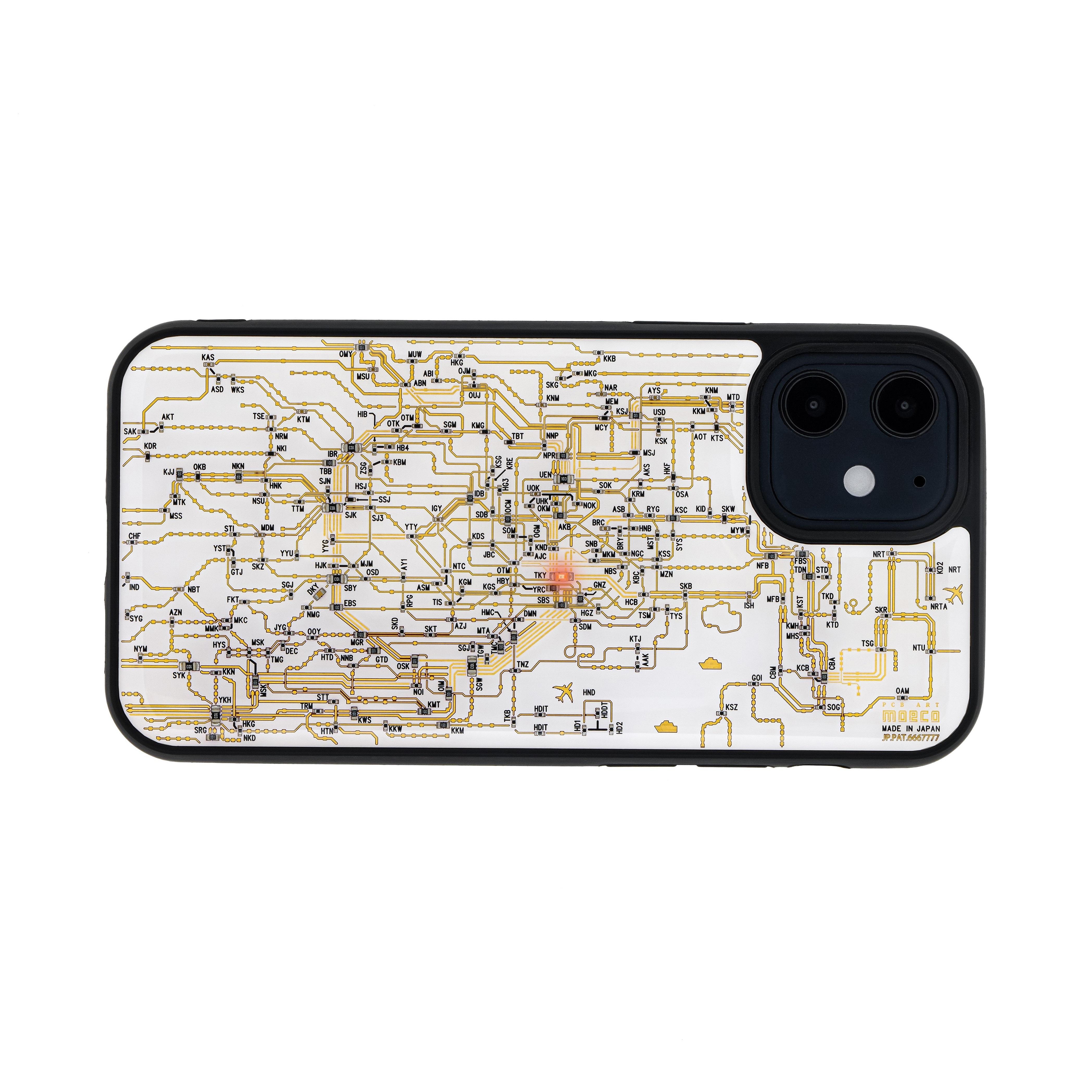 FLASH 東京回路線図 iPhone 12 mini ケース 白【東京回路線図A5クリアファイルをプレゼント】