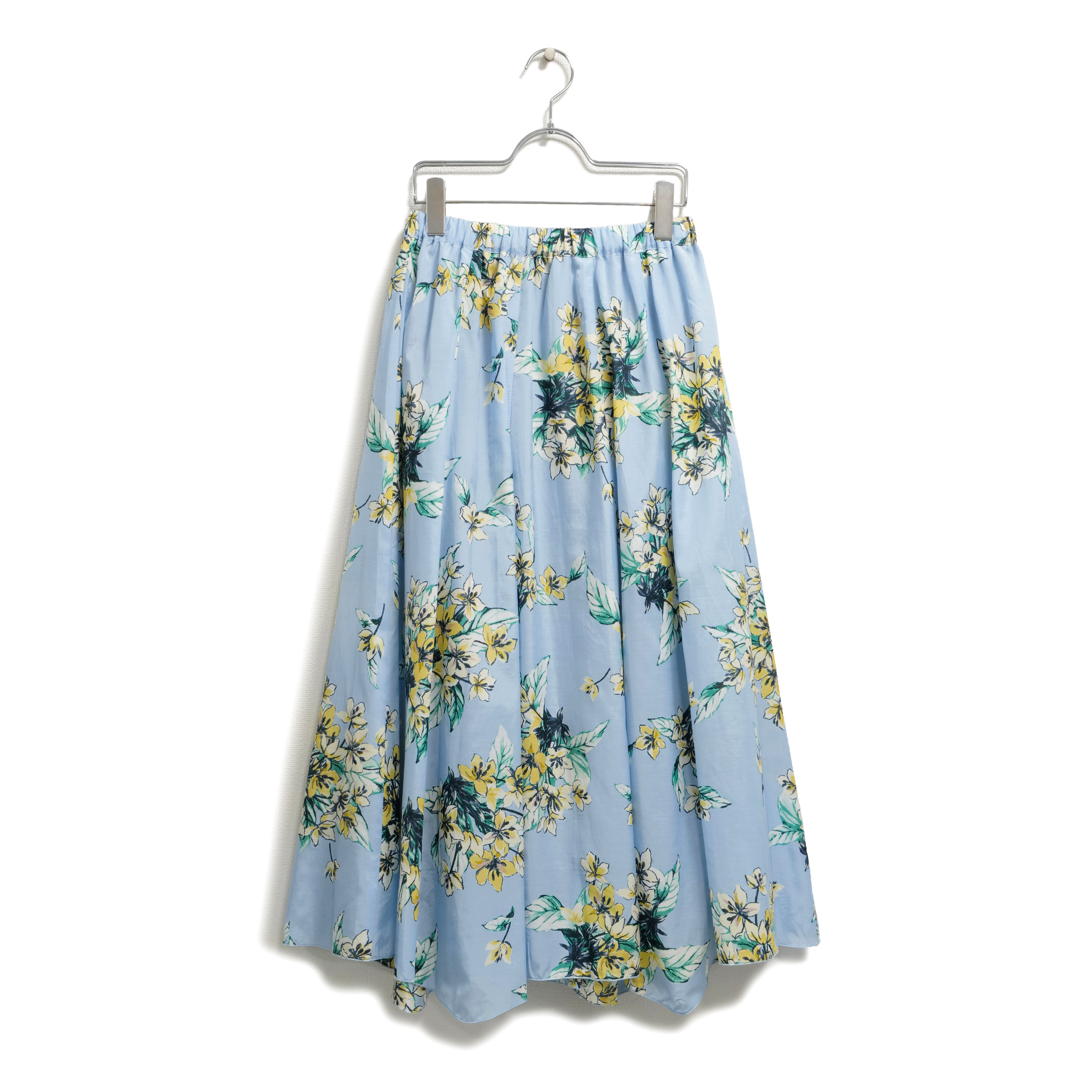 キュプラ綿ローンフラワープリント・10枚接スカート