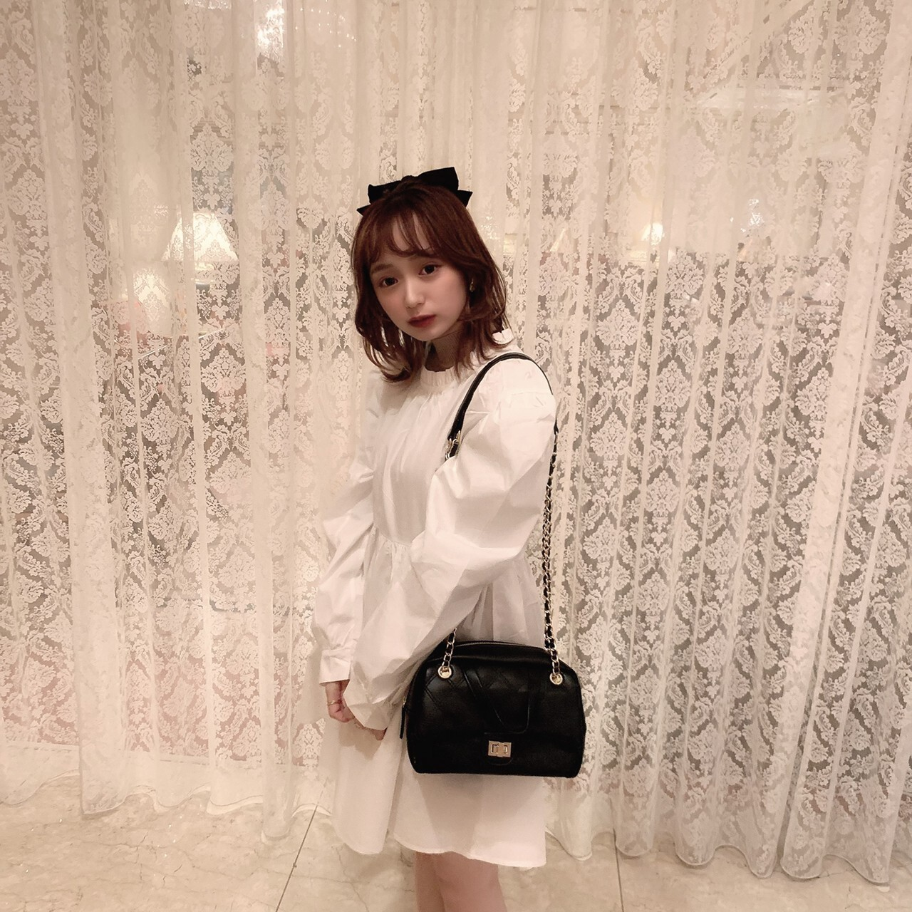 【meltie】back ribbon puff one-piece