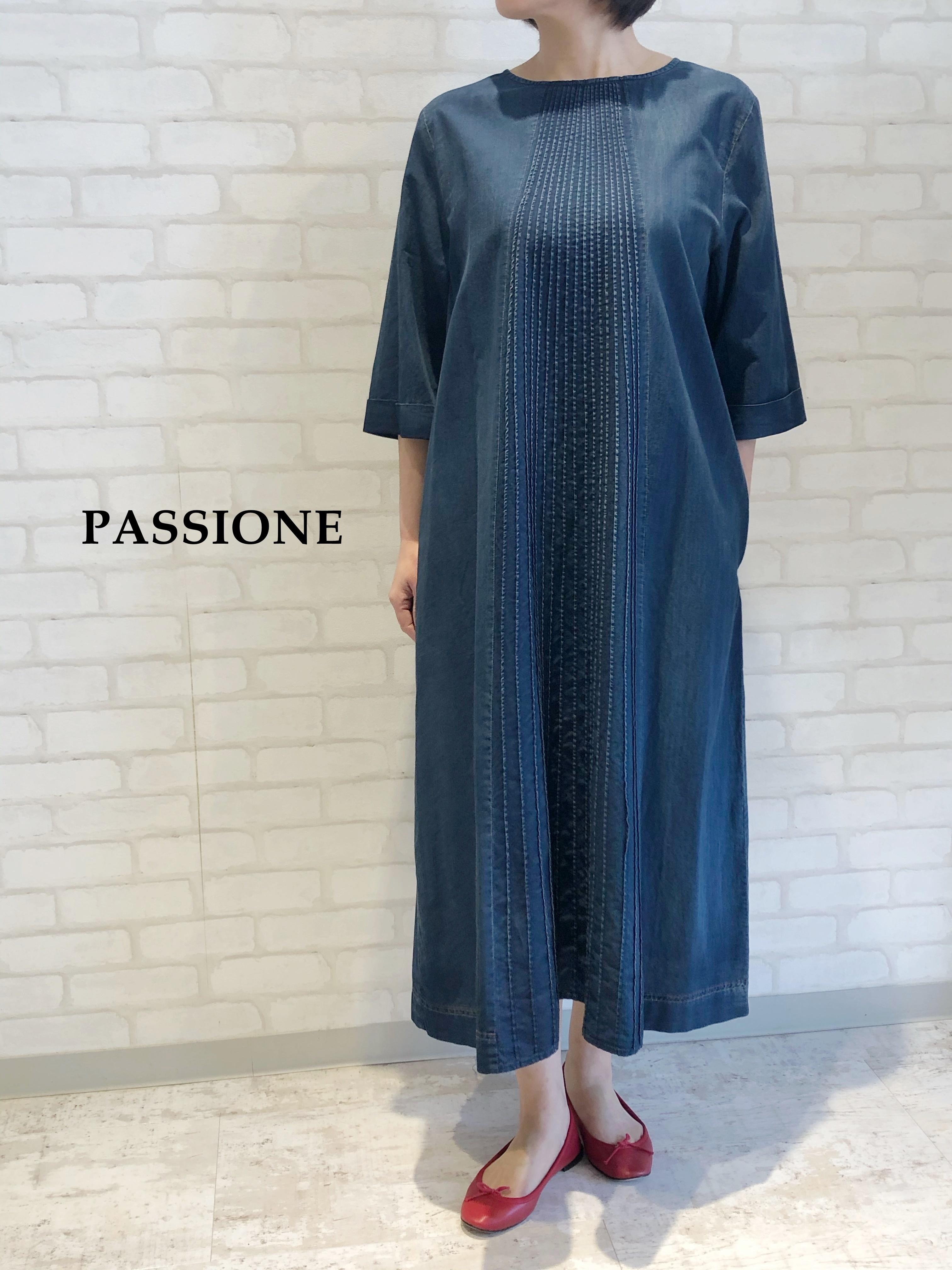 PASSIONE/ライトデニムワンピース/127101