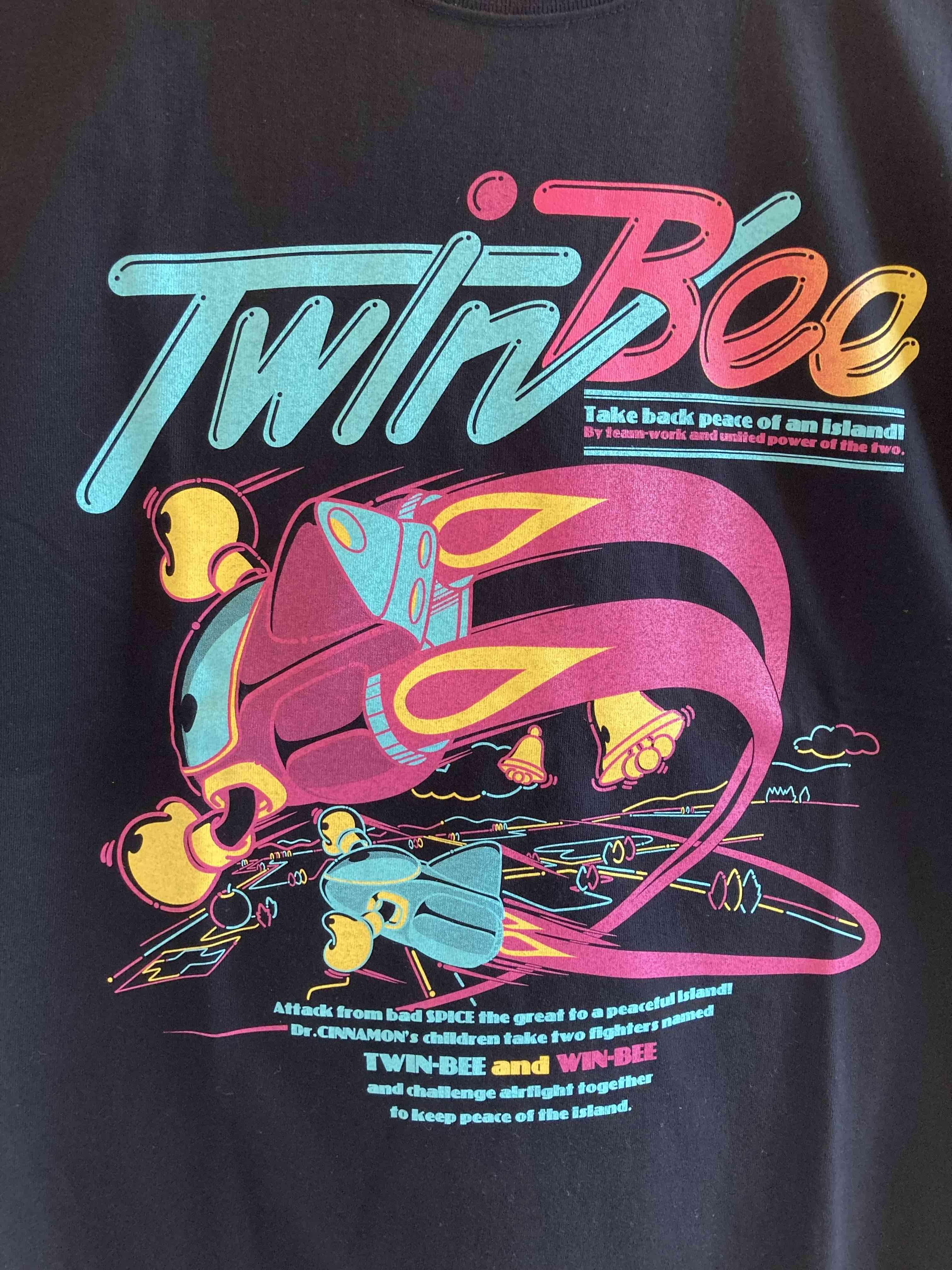 TwinBee フルカラーTシャツ(ブラック・ホワイト) / VIDEO GAME TOKYO