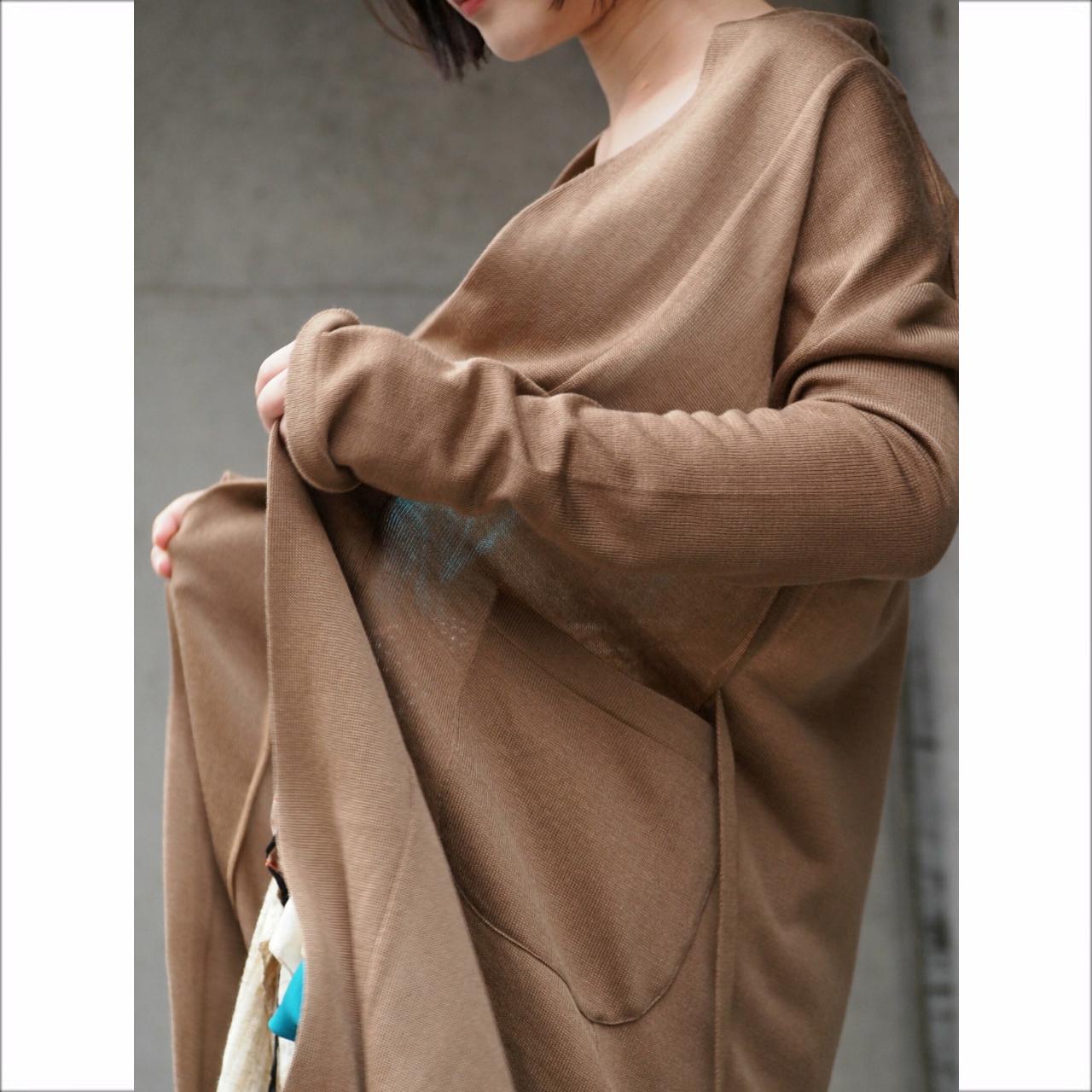 【hippiness】sunel knit gown/【ヒッピネス】サネル ニット ガウン