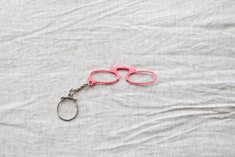 【フランス】メガネのキーホルダー/ STOPSOL