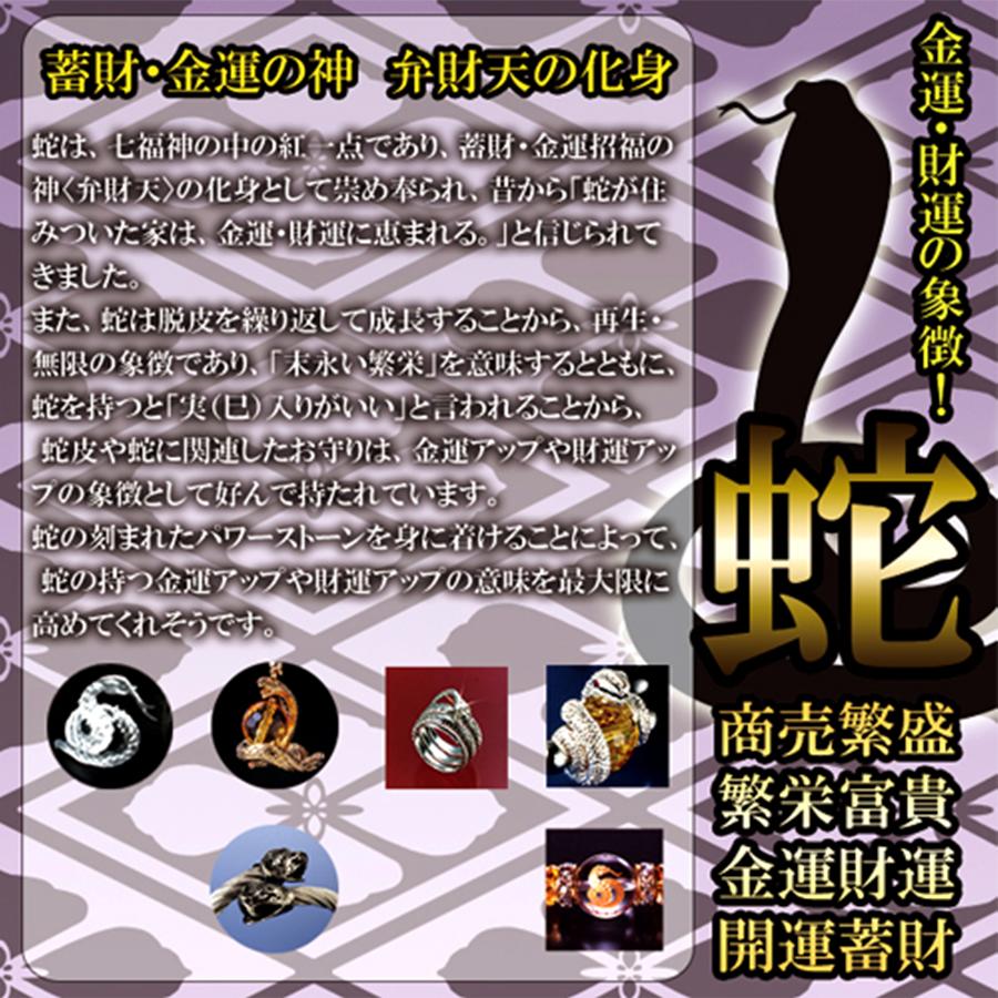 【開運、蓄財の守護神】天然石 オニキス 吉兆蛇ブレスレット <へびの皮お守り付き>(10mm)