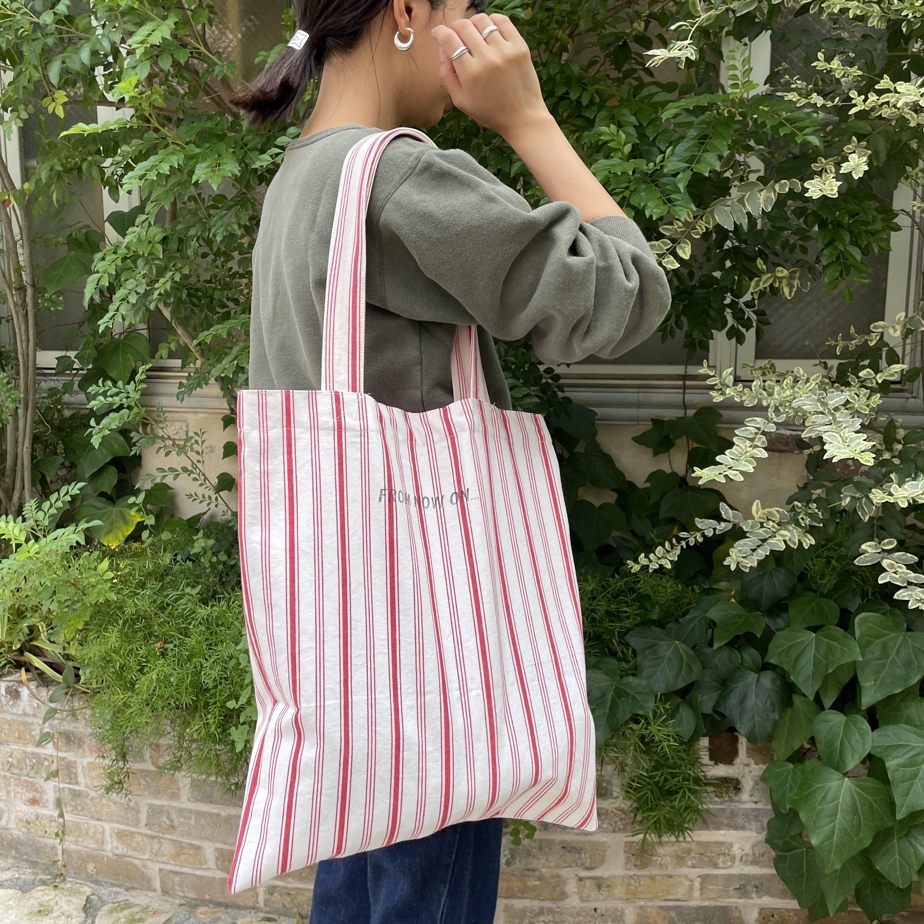 """ Upcycle Tote Bag【Dead stock fabric】/ アップサイクルトートバッグ【デッドストックファブリック】"""