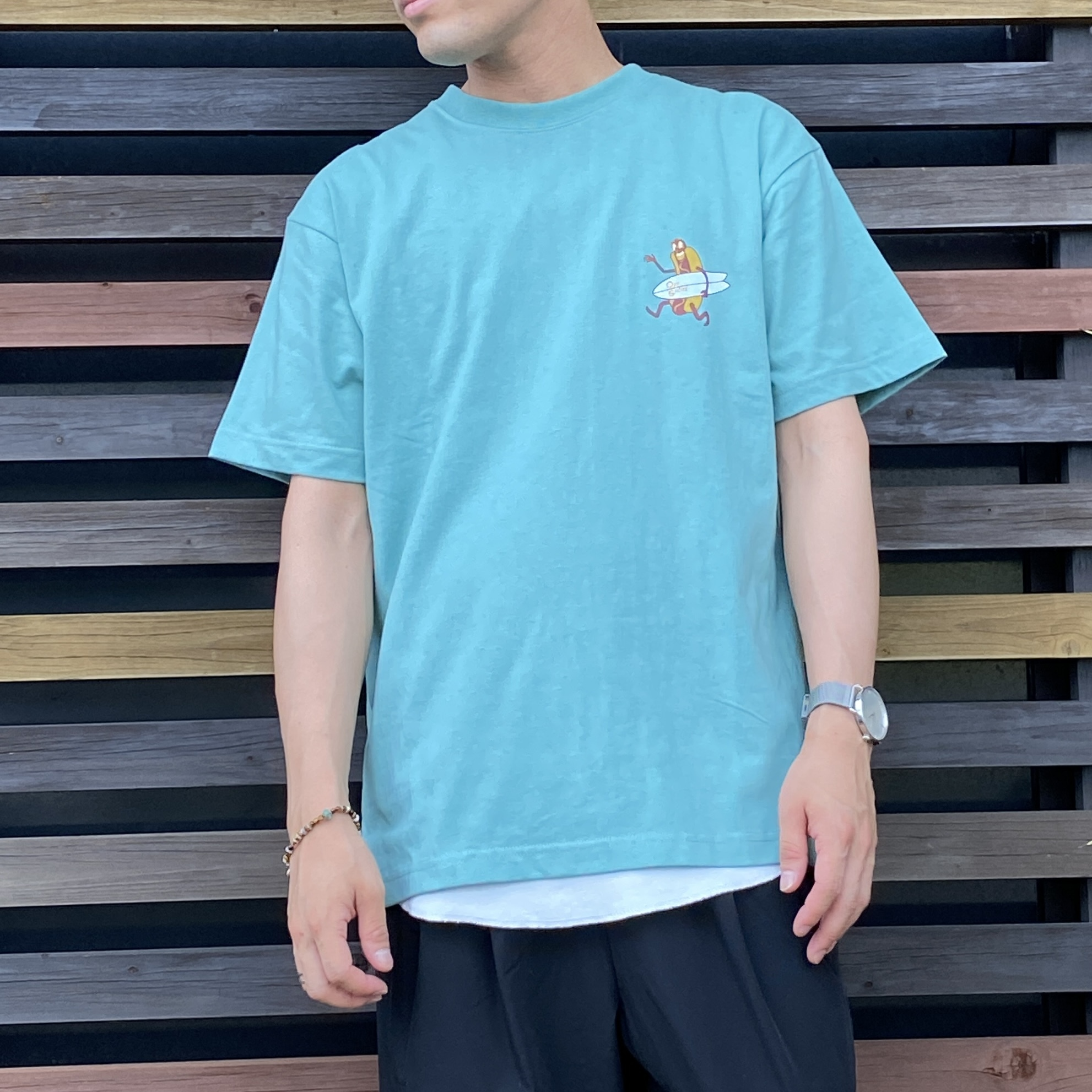OFFSHORE/オフショア ホットドッグプリントTシャツ  OS21-2CS-008W