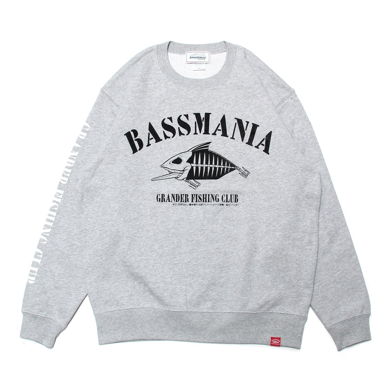 【bassmania×グランダー武蔵】スケルトンデザイントレーナー [M.GRY]【限定受注生産】【3月中~下旬配送】