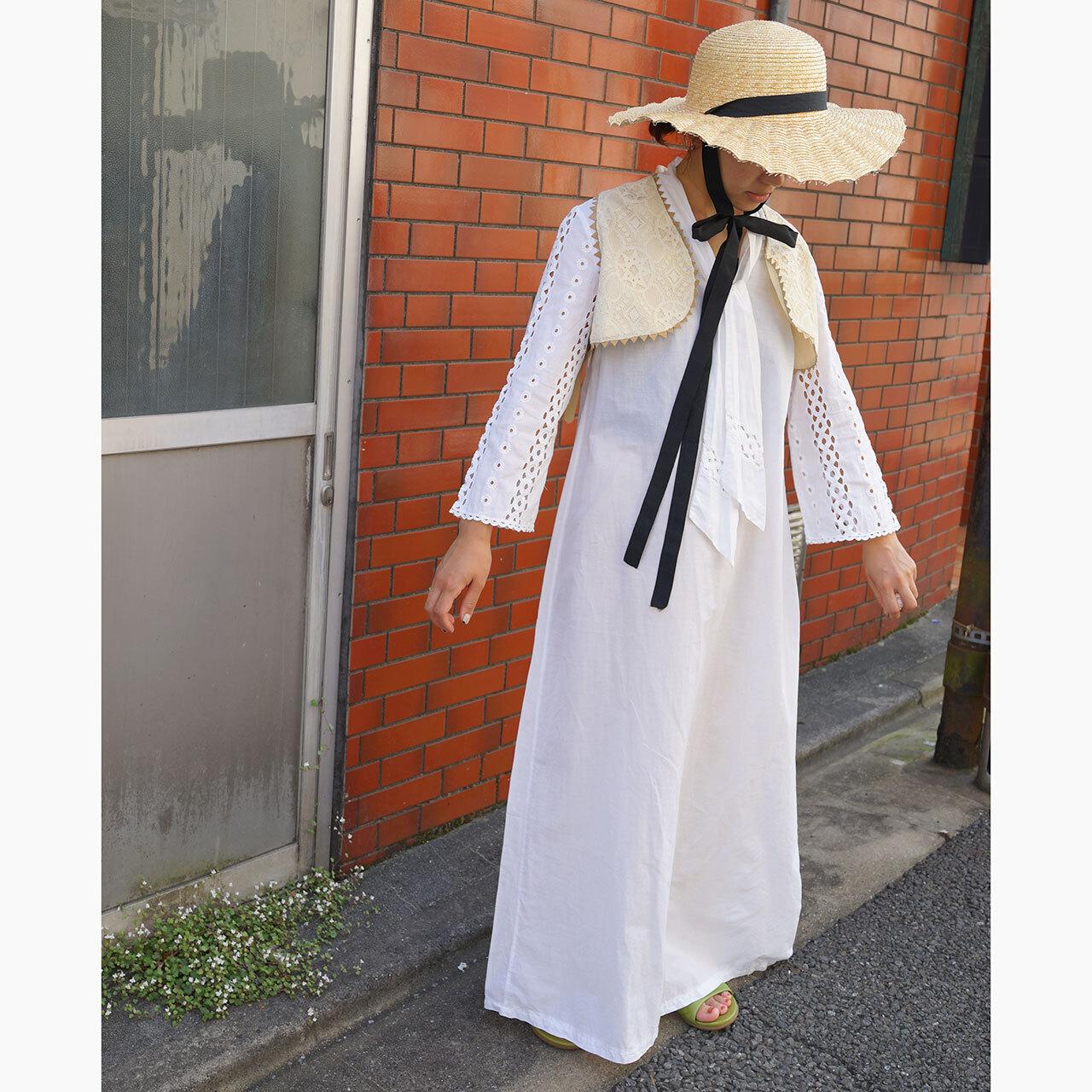 【送料無料】70's Vintage White Cotton Maxi Dress