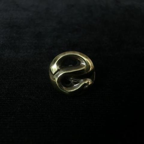 R.S LAPEL PIN -BRASS- ヘビのラペルピン ブラス