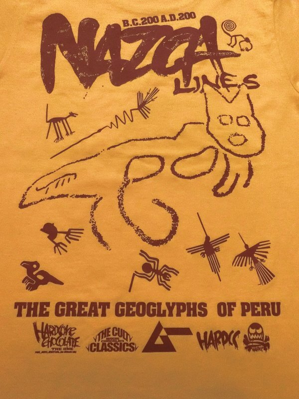 月刊ムー ナスカの地上絵/巨大ネコ(パラカスゴールドクラックプリント) / ハードコアチョコレート