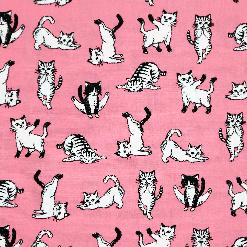 猫ナプキンバンダナ(ポーズねこ)ピンク
