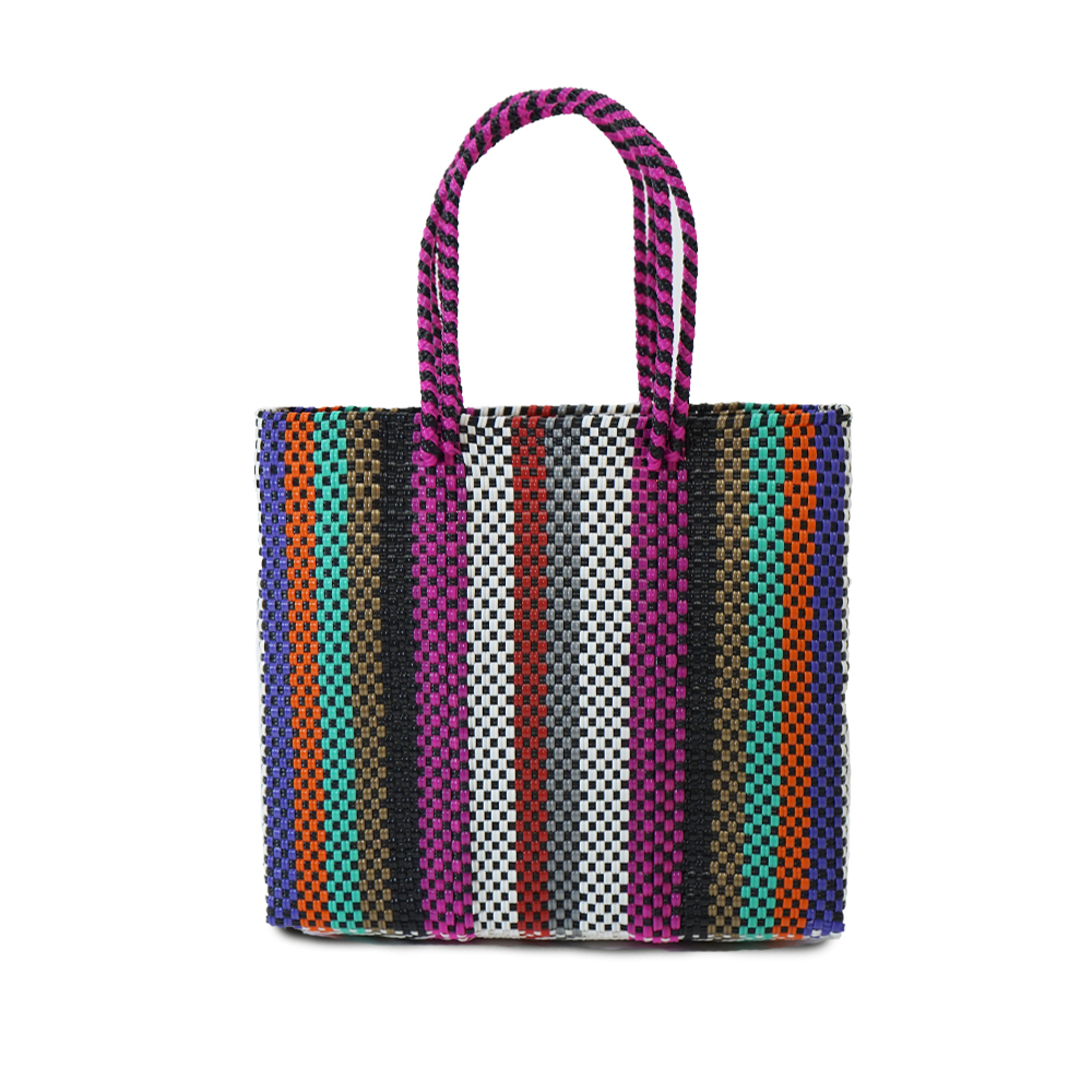 MERCADO BAG SIGNAL LINES SEMI LONG HANDLE  -  MULTI COLOR STRIPE(S)