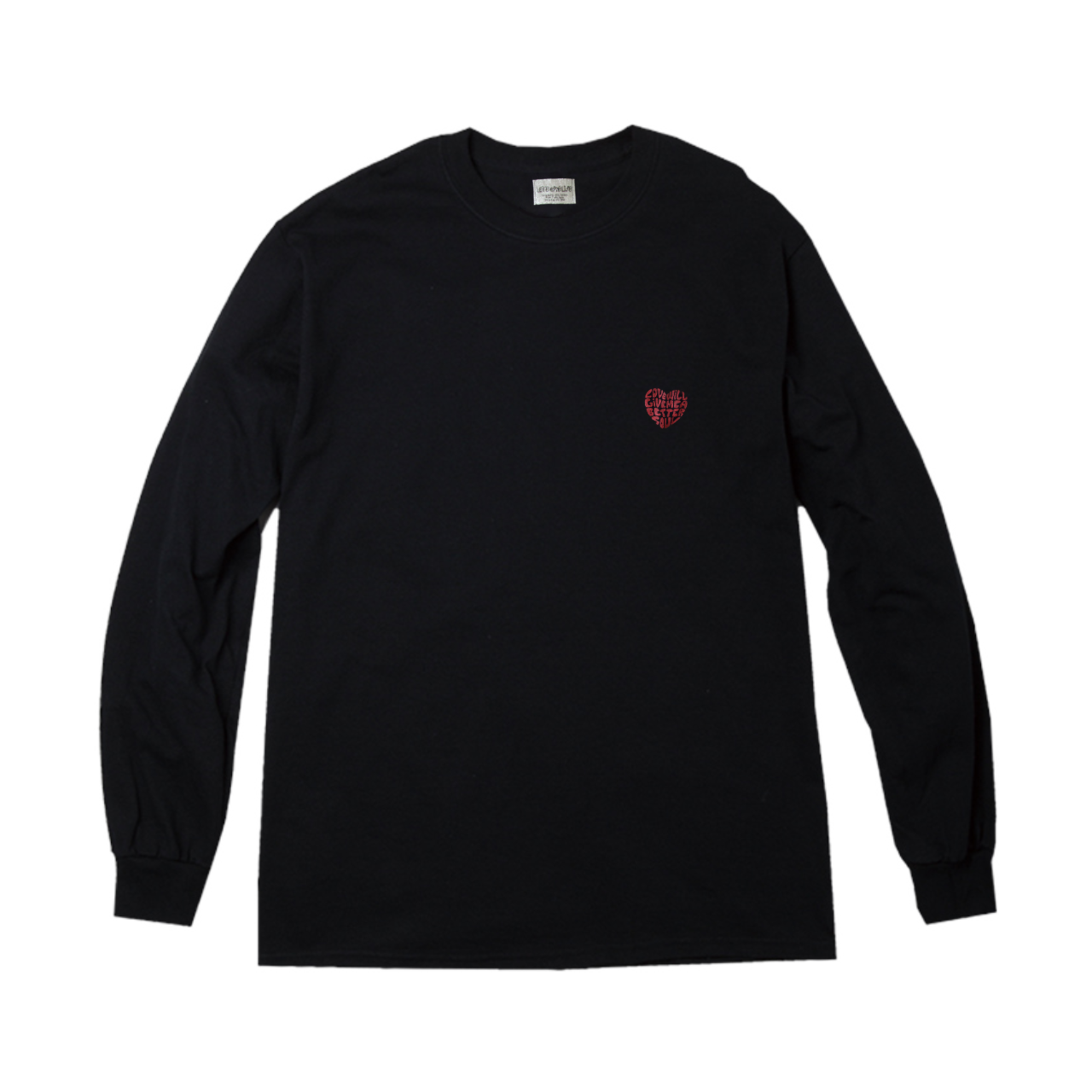 love will give me a better soul LS tee in black