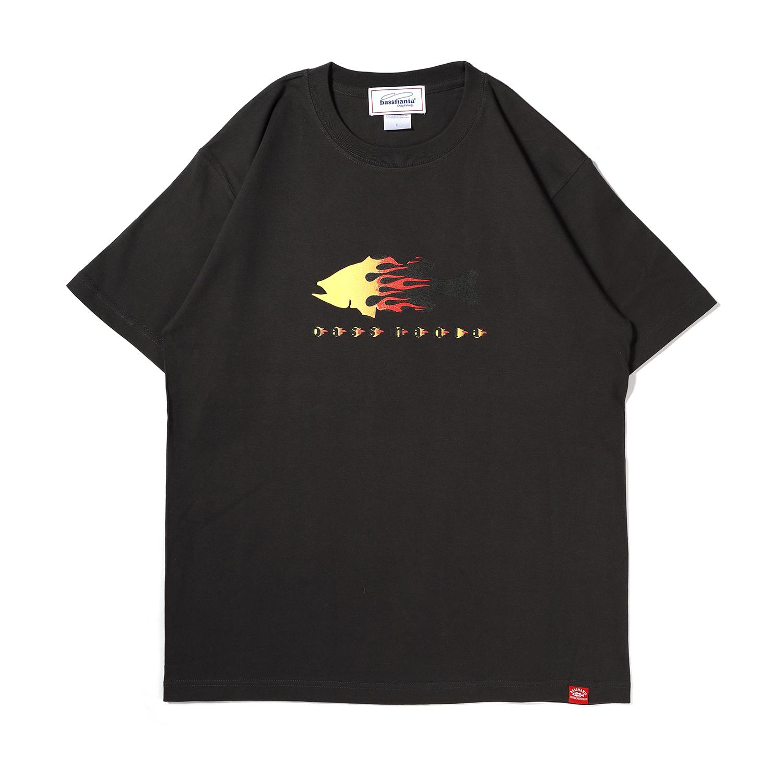 ファイヤーパターンTシャツ[S.BLK]