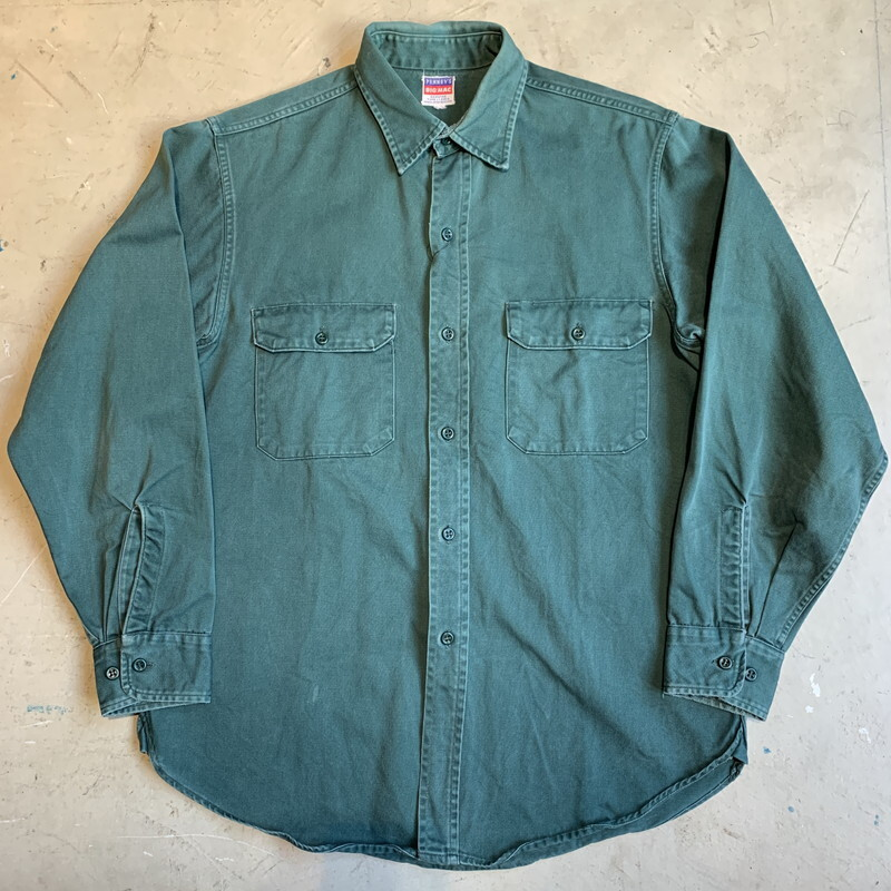 50's~ BIG MAC アーミークロスワークシャツ ダークグリーン マチ付き Jcpenny ストアブランド TYPE1-2BY2 COMBED COTTON ARMY CLOTH M位 希少 ヴィンテージ BA-1309 RM1678H