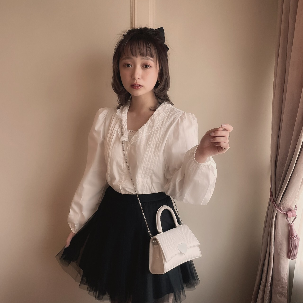 再販【meltie】french girl blouse