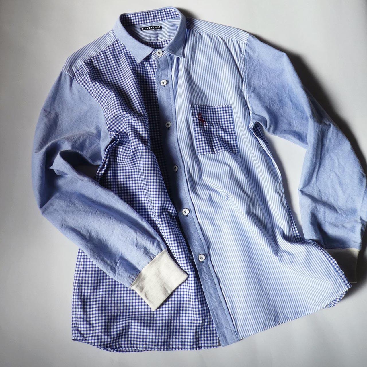 HOME ワークシャツ ・オクスフォードミックス