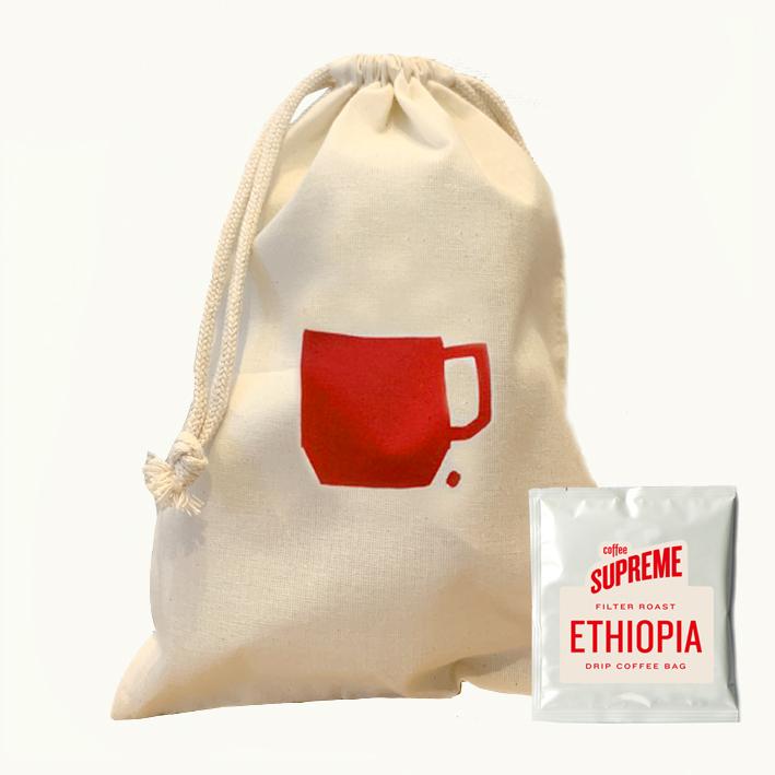 コーヒードリップバッグ5個&巾着セット<ETHIOPIA GUJI>