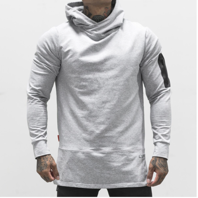 LIVE FIT Assassin Hoodie- Heather Grey