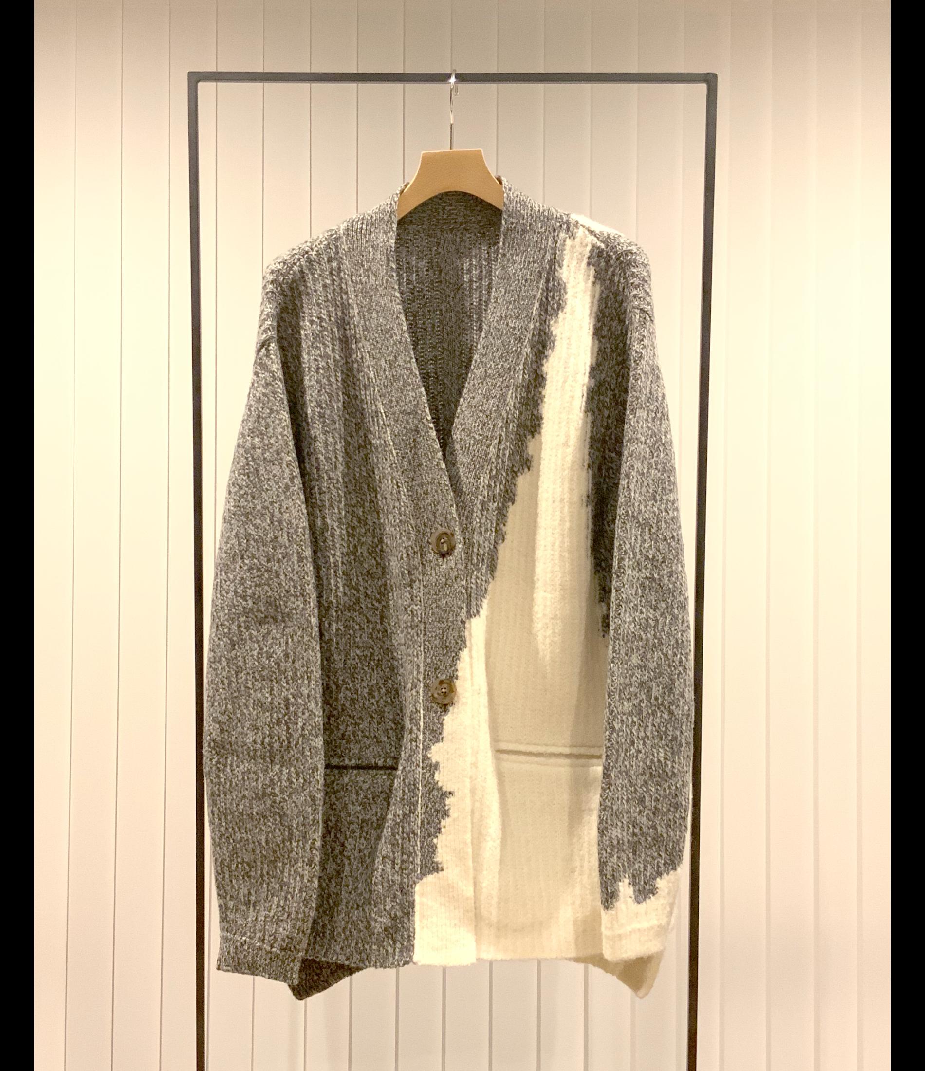 Intersia Cardigan / Off White