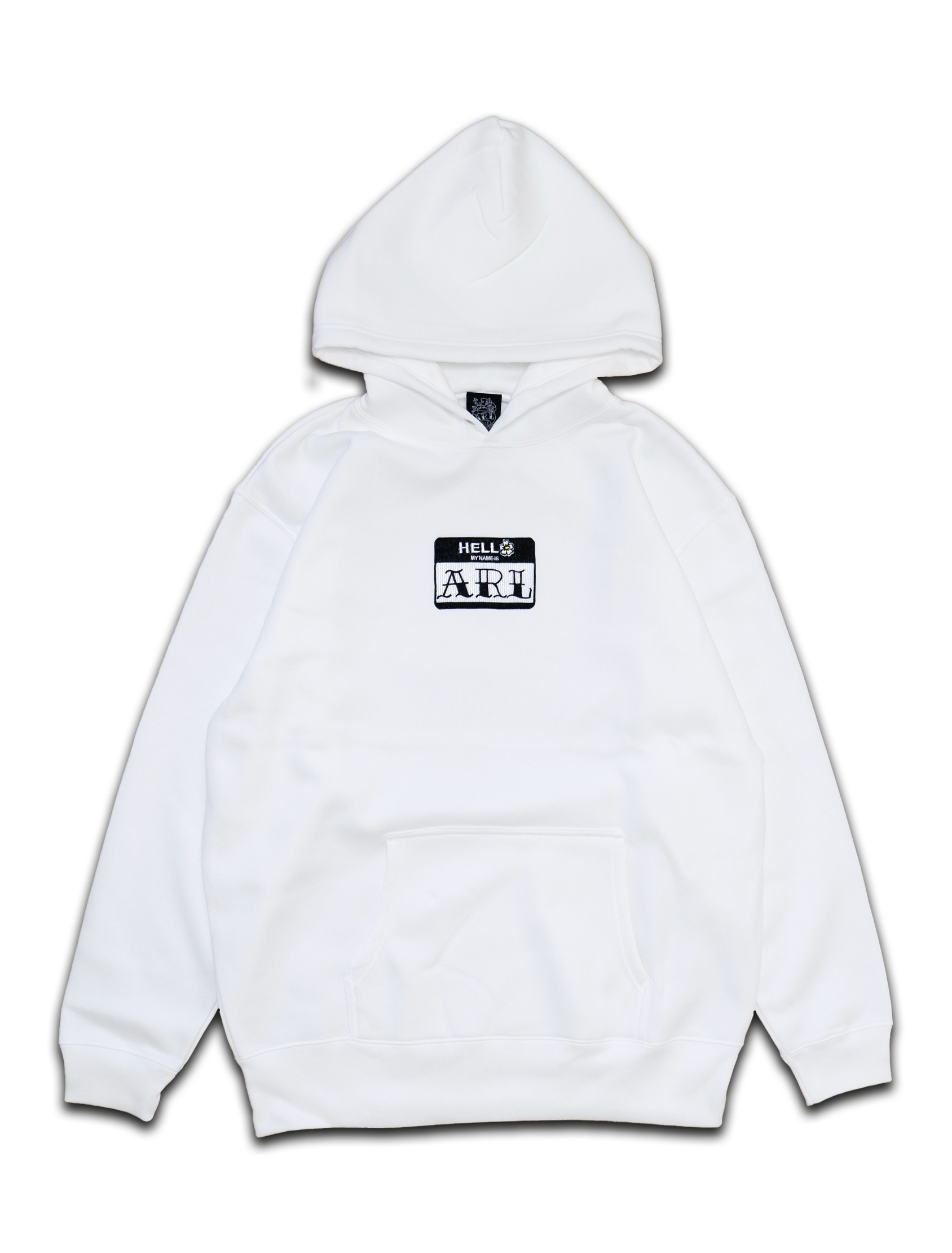 LOGO PATCH FLOWER HOODIE white
