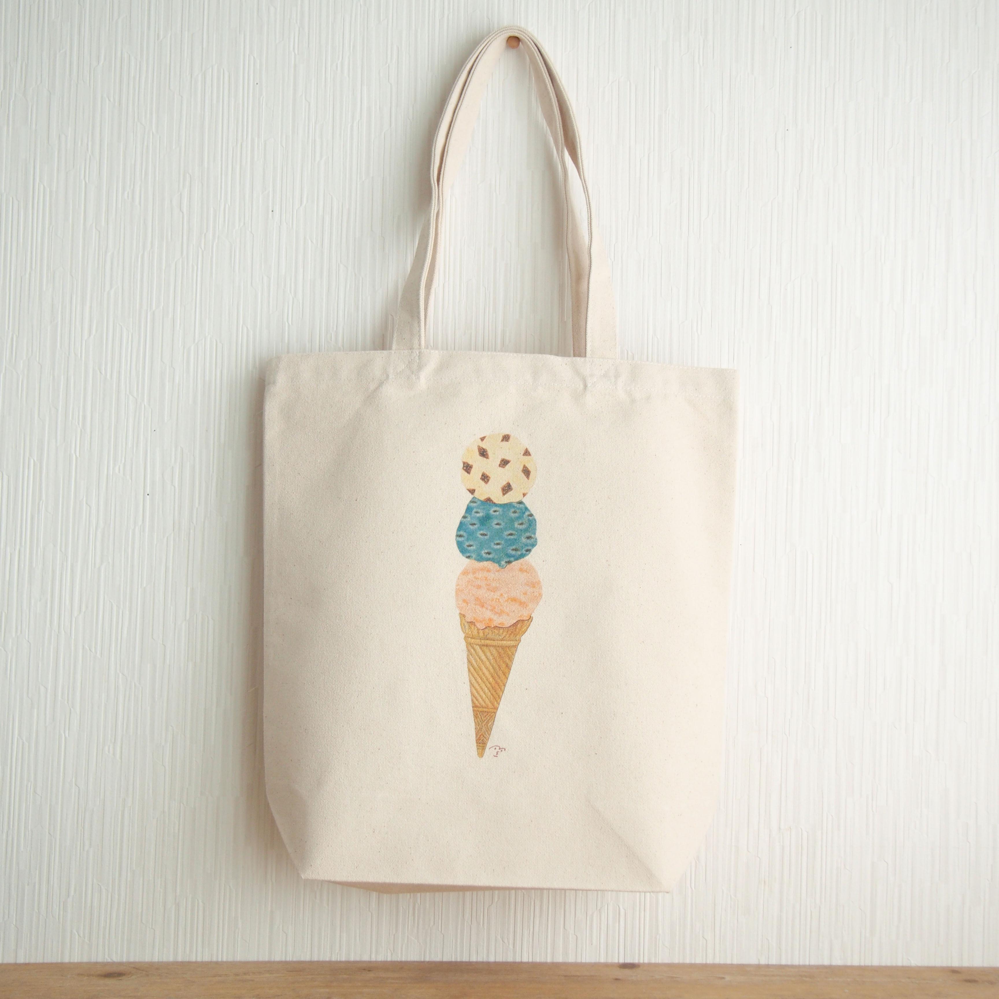 *アイスクリーム キャンバストートバッグ*