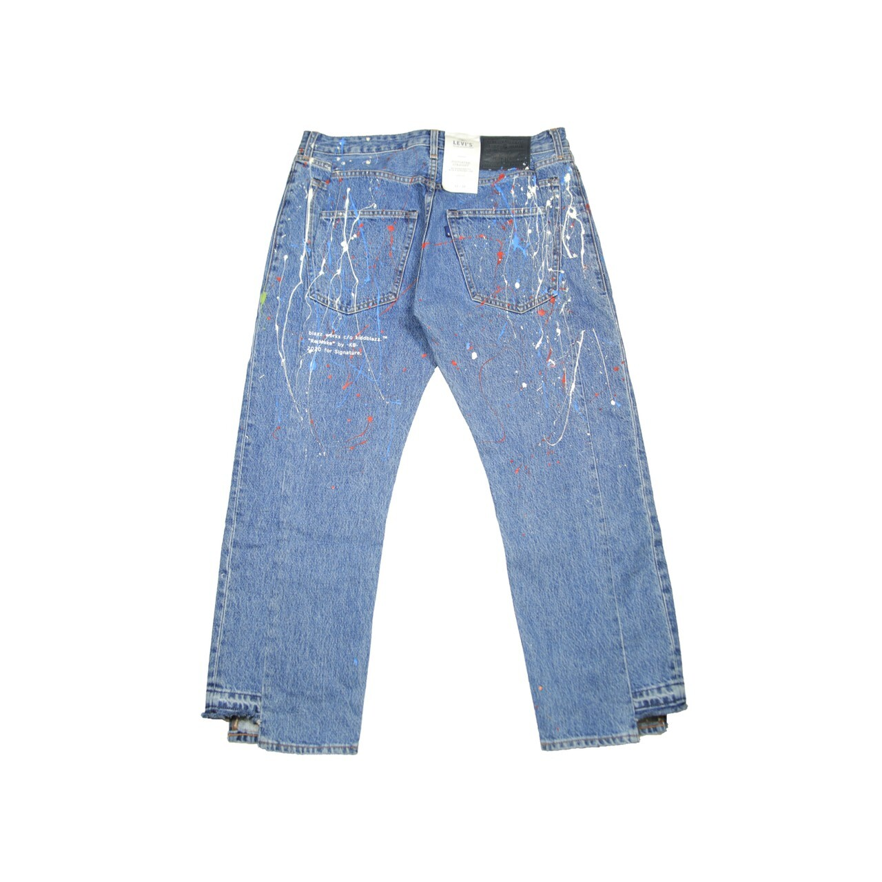 KB PAINT Levi's MADE & CRAFTED WIDE DESIGH DENIM *DEADSTOCK