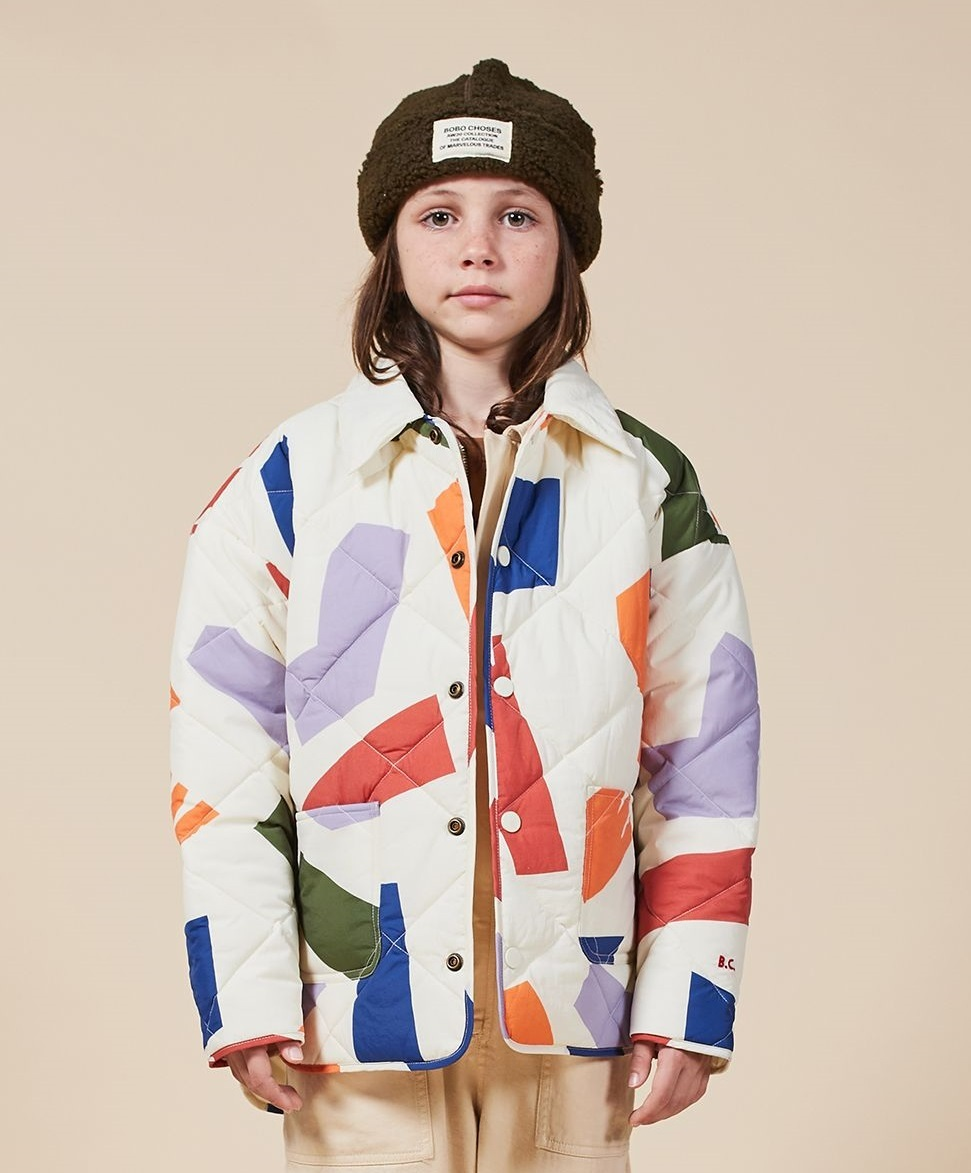 BOBO CHOSES ボボショセス Shadows Quilted Jacket size:8-9Y(130-140)