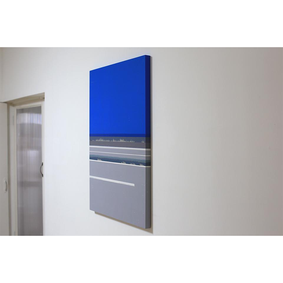 「彼女の家までの残りの道を歩いた」acrylic on panel 841×594×30mm