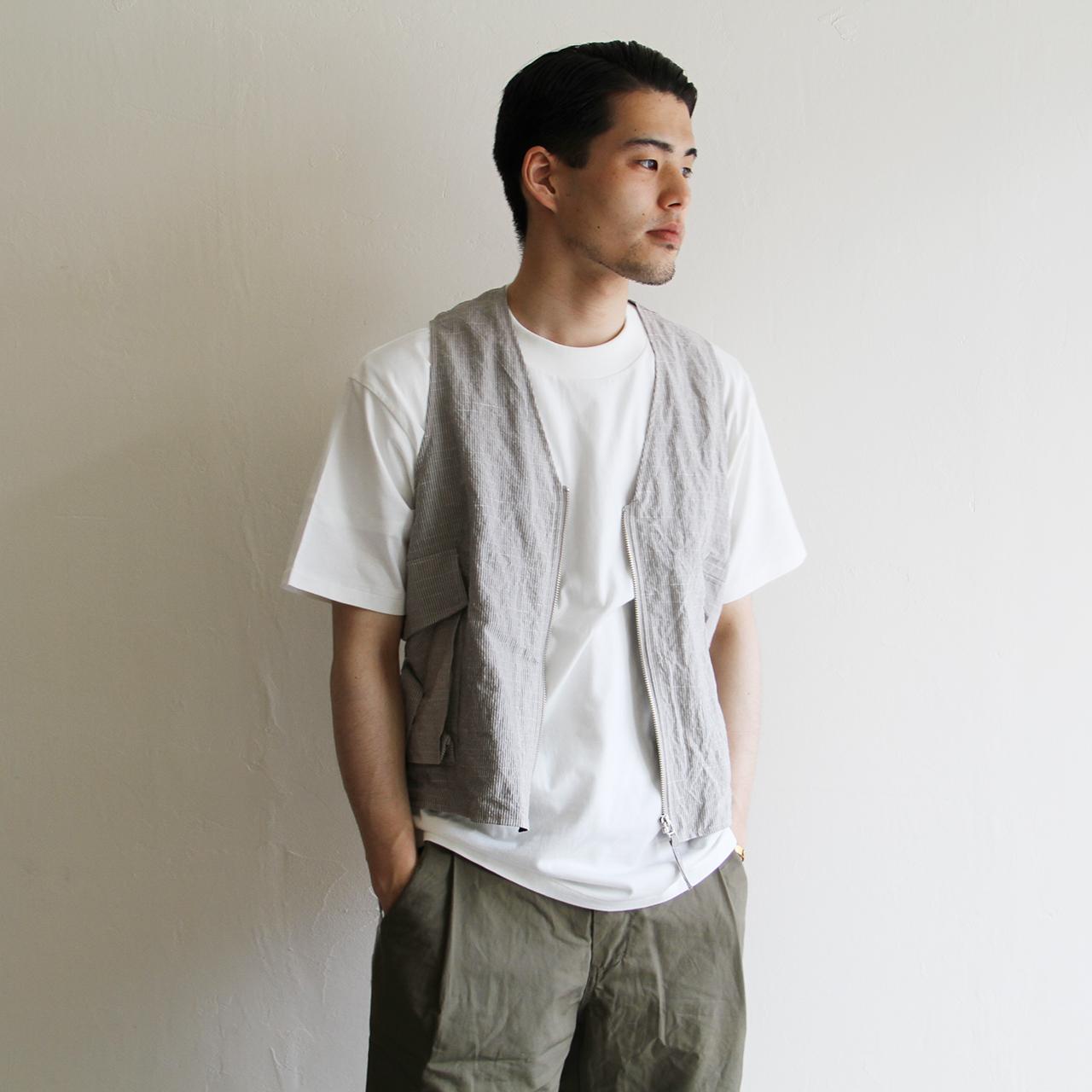 KAPTAIN SUNSHINE【 mens 】belted vest