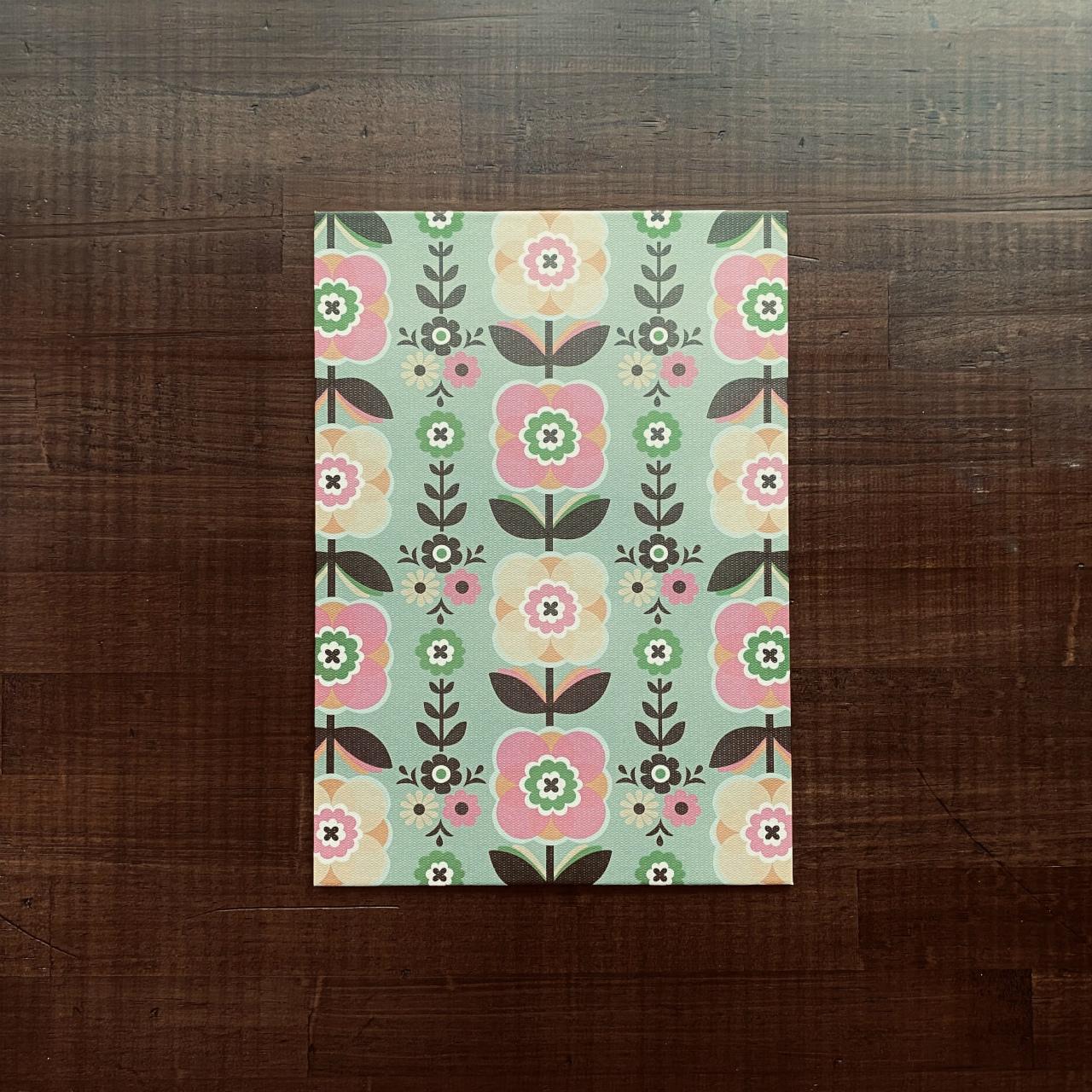 着せ替え表紙「HAOLi-羽織-」(A5ノート用1枚)チロルフラワー(カーキ系)