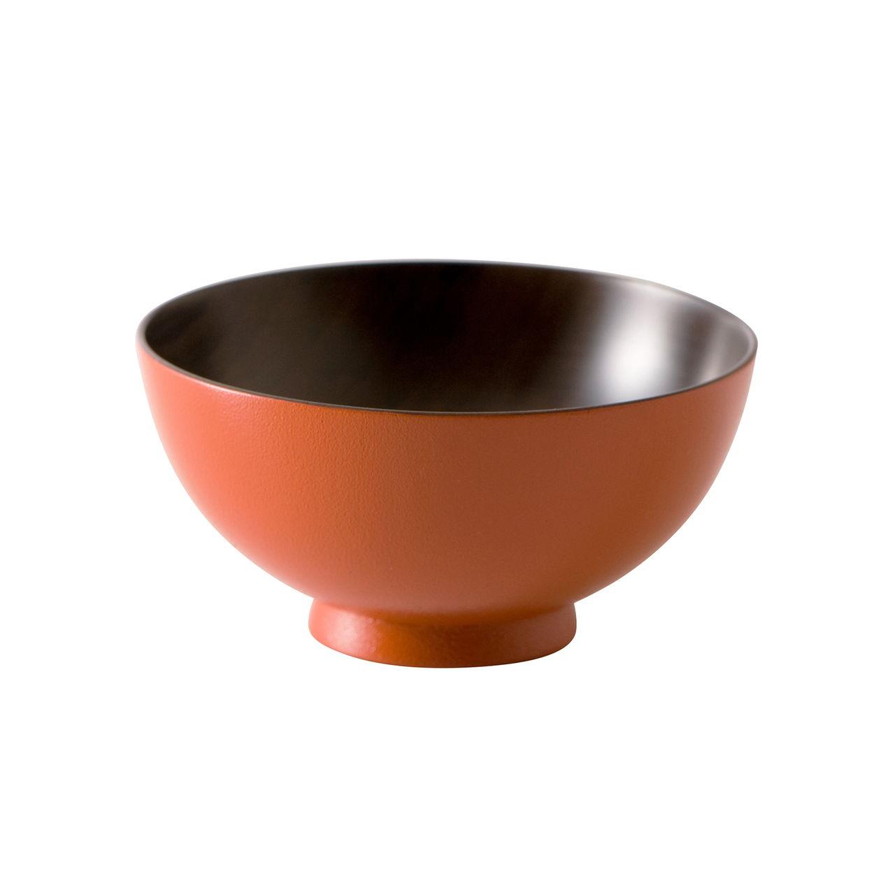 山中漆器 白鷺木工 子ども 飯椀 約10cm sibo さくら 黒×オレンジ  381229