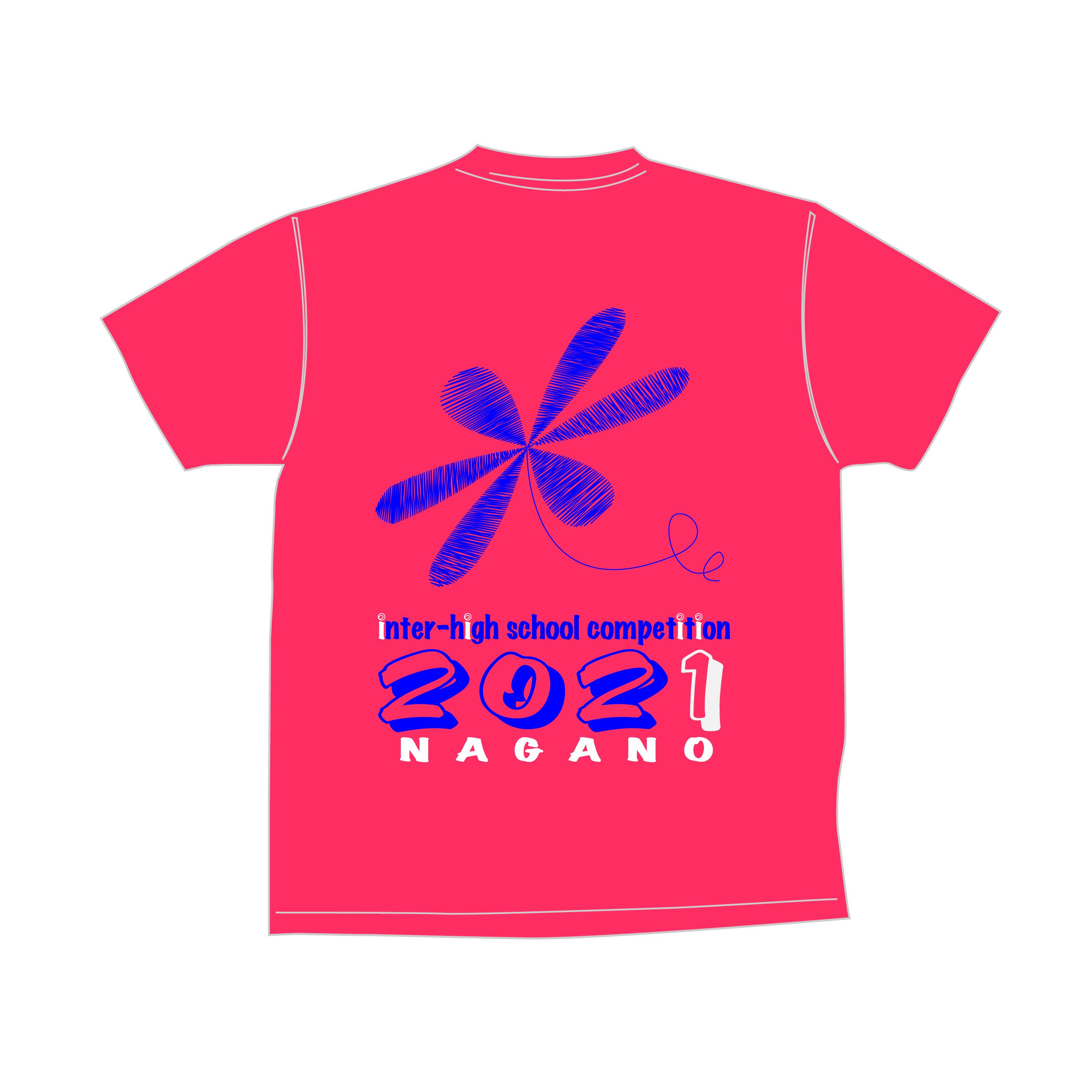 2021年長野インターハイ トアルソンオリジナルTシャツ(蛍光オレンジ×ネイビー)【1ET2105】