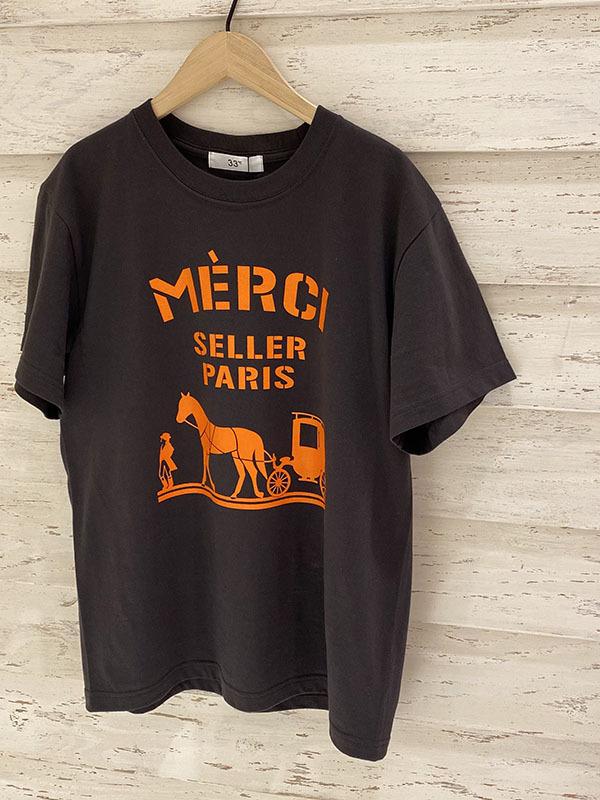 merciロゴTシャツ/ Mサイズ[Color:チャコール×オレンジ]