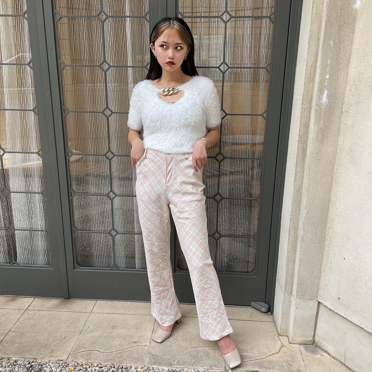【Belle】pastel check pants
