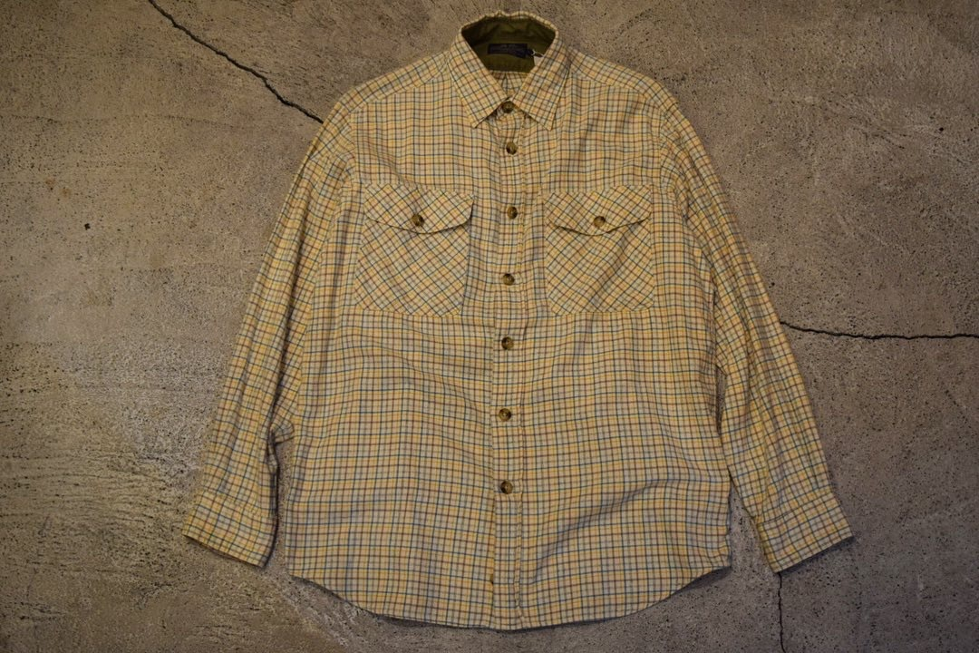 USED 00s Willis&Geiger Flannel Shirt -Large S0623