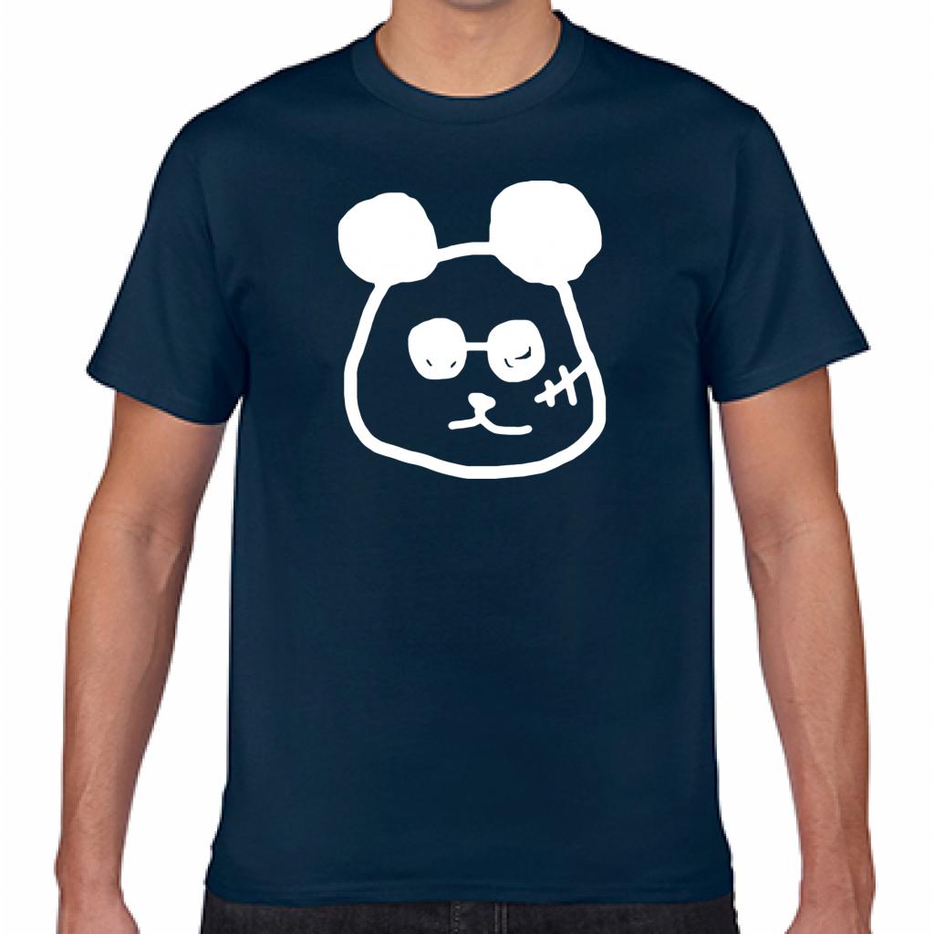 PANDA/NVY【シンプルデザインTシャツ】©mayu_color.888
