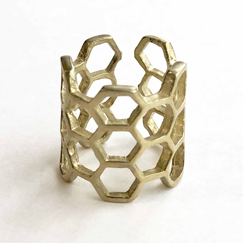Raw brass Rings -  honeyリング  RG-027