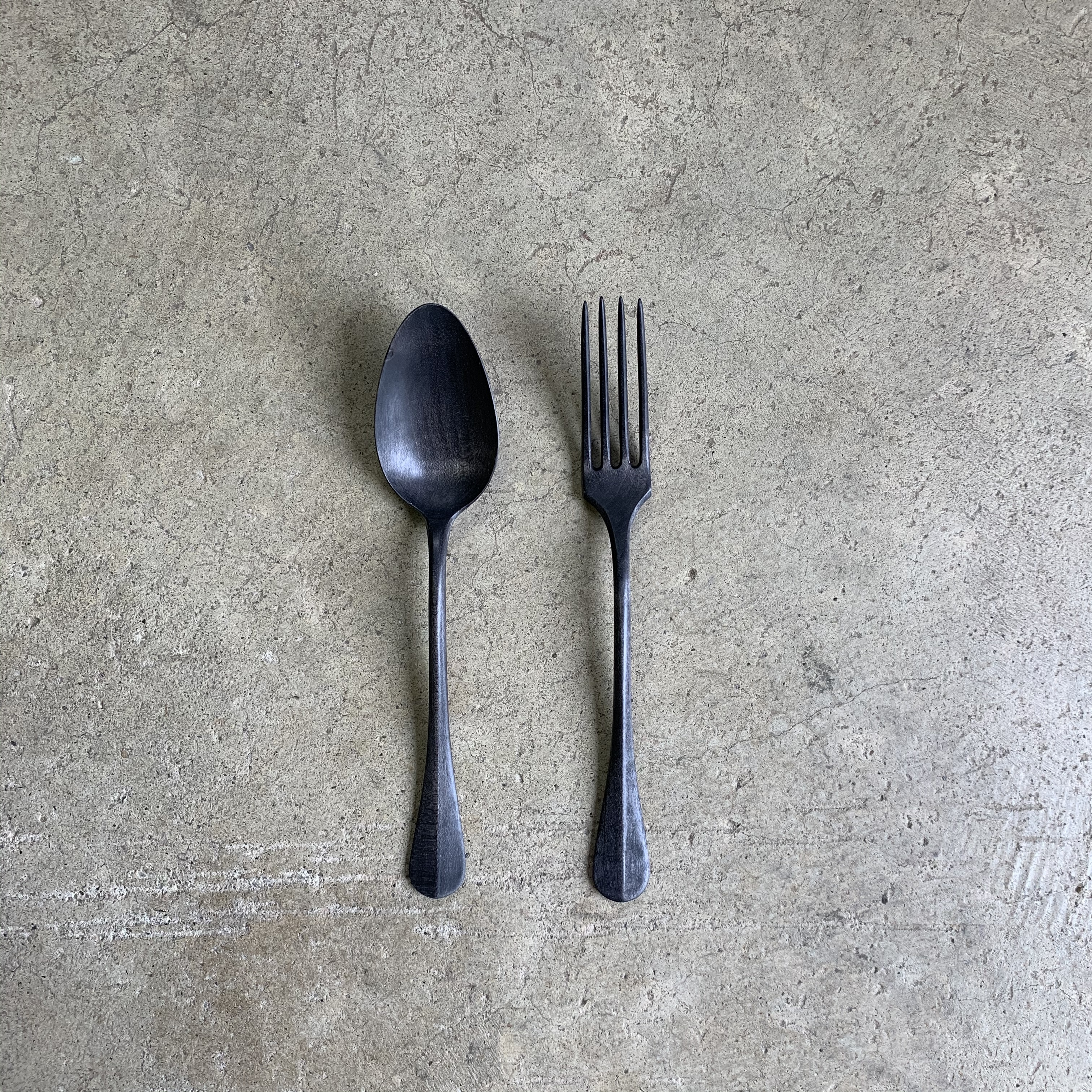 Wood spoon & fork no,3
