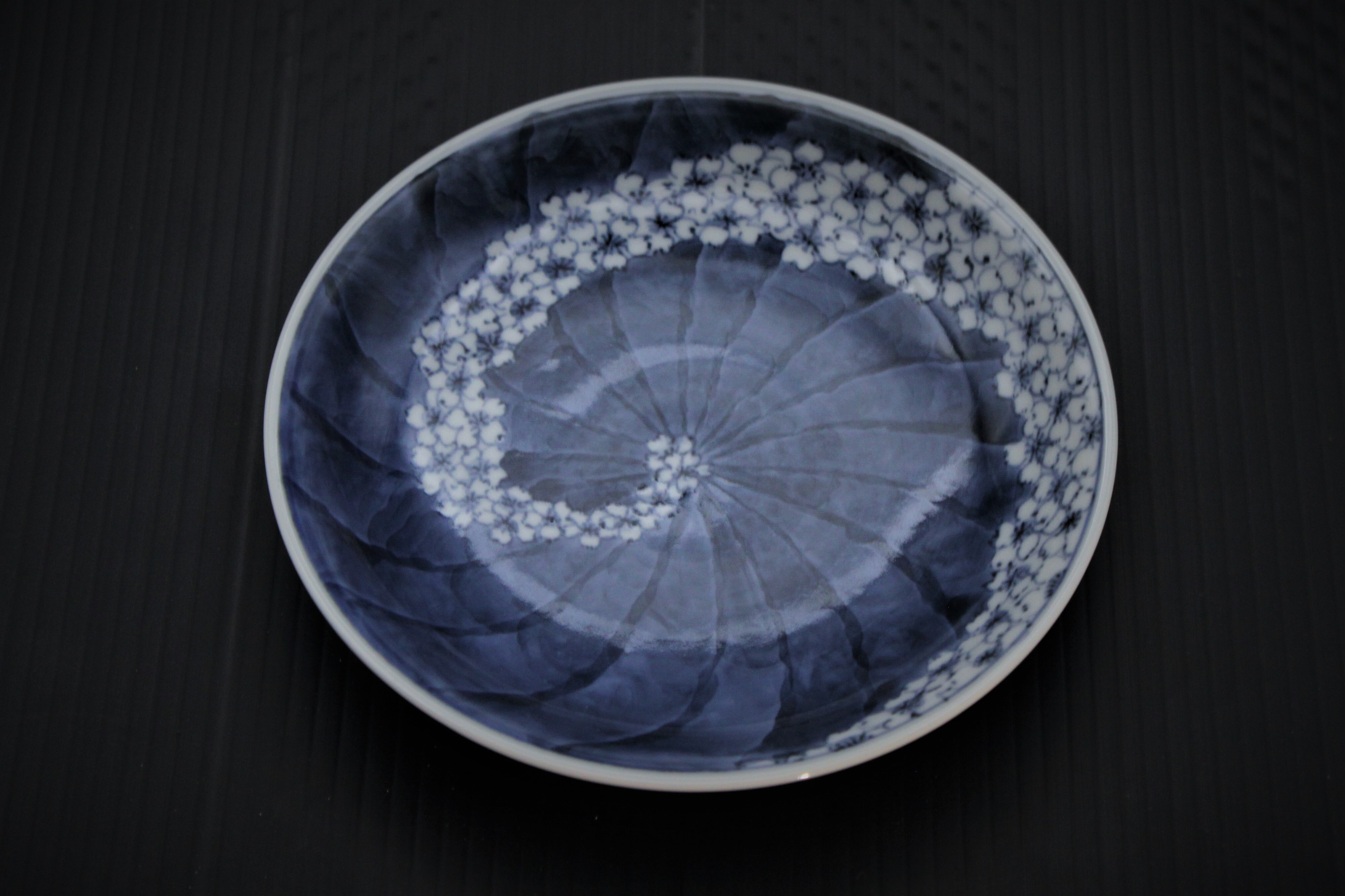 流水桜5寸皿
