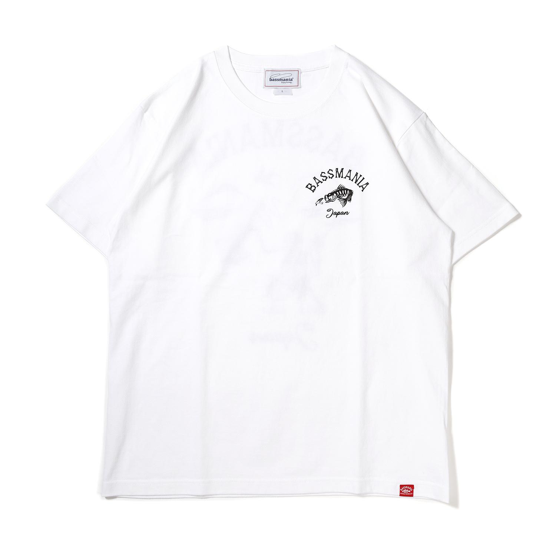 スカルプリントTシャツ[ホワイト]
