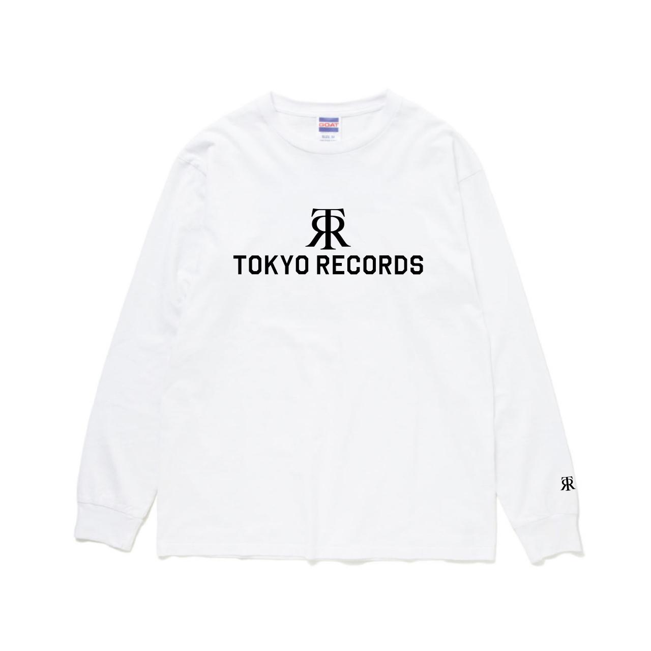 TOKYO RECORDS LOGO LONG TEE(WHT × BLK)