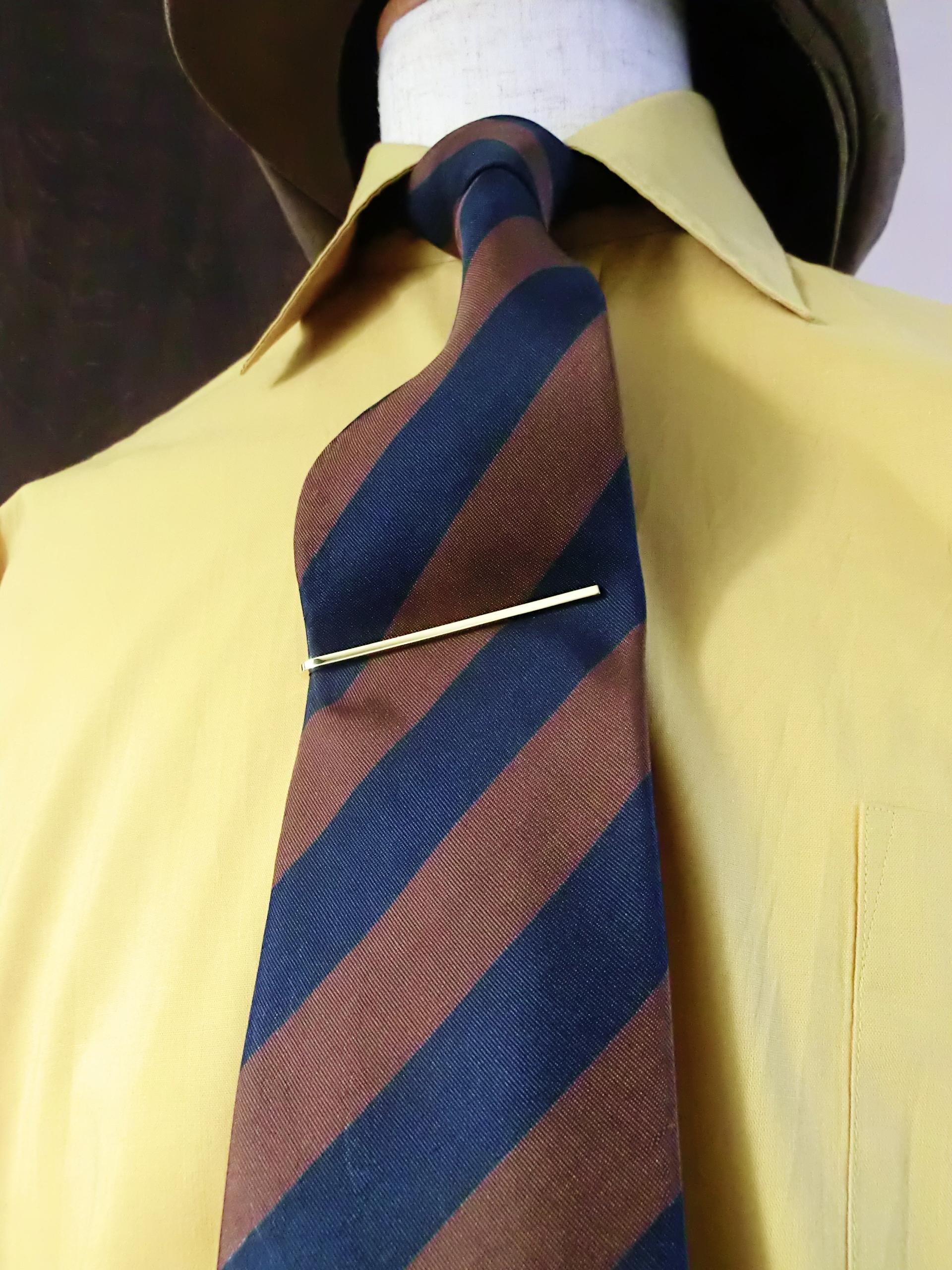 NARROW TIE SLIDE -Brass- ナローネクタイピン 真鍮製