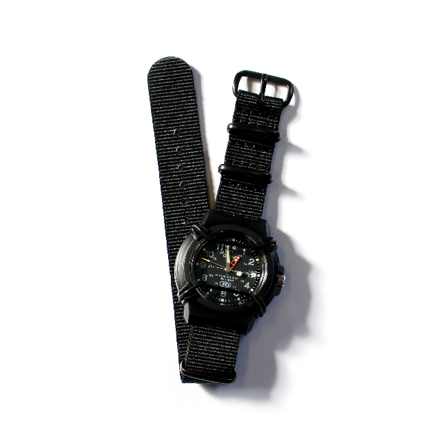 CASIO PROTECT WATCH / BLACK / NATO-type Black Strap